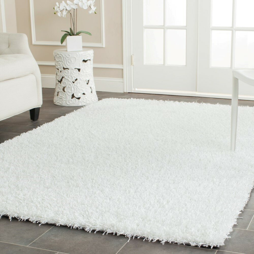 Safavieh shag white area rug reviews wayfair for White area rug