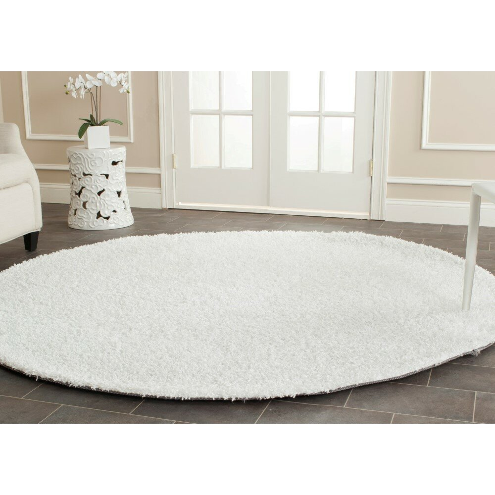 Safavieh Shag Handmade White Area Rug Amp Reviews Wayfair
