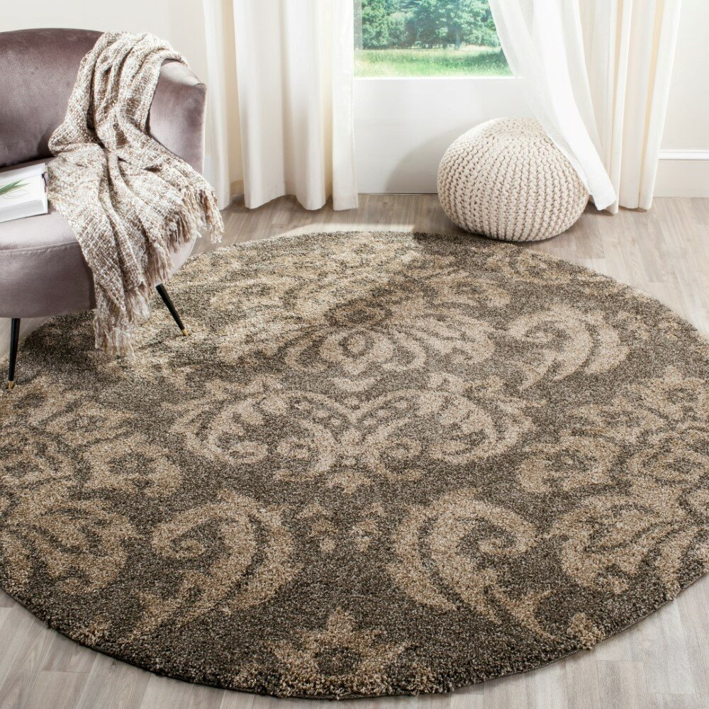 House Of Hampton Flanery Light Smoke Beige Area Rug