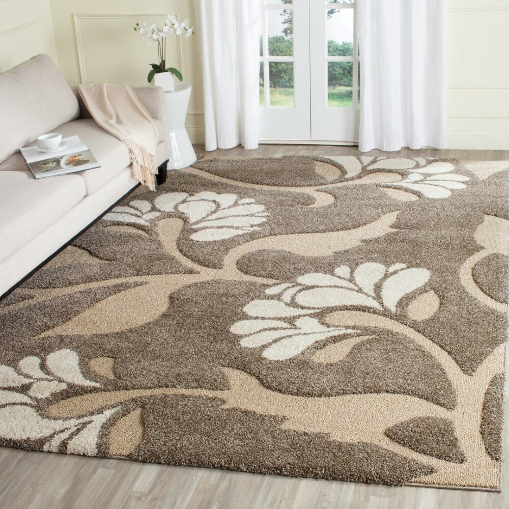 House Of Hampton Flanery Light Smoke Area Rug & Reviews