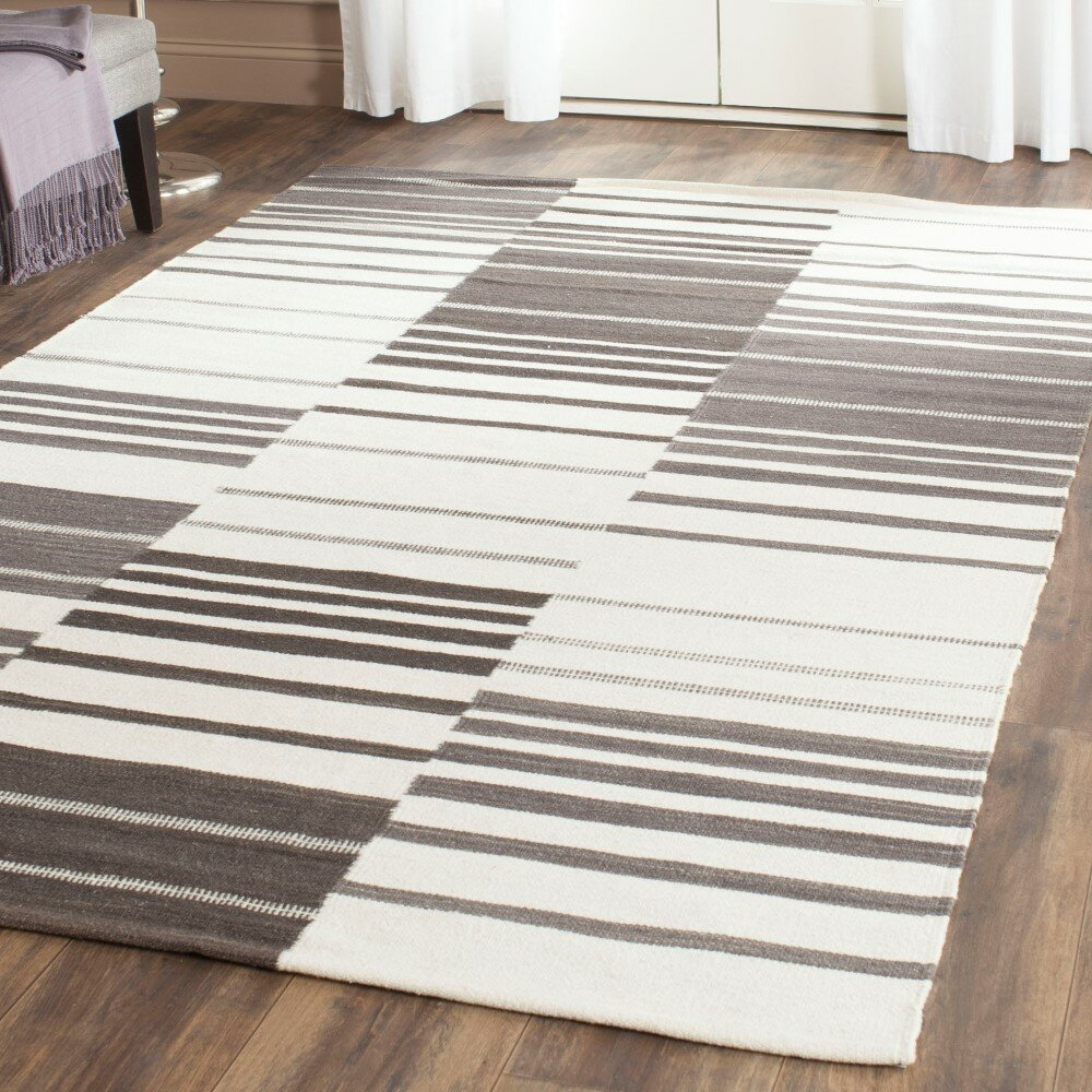 Safavieh Kilim Brown Ivory Striped Rug Wayfair