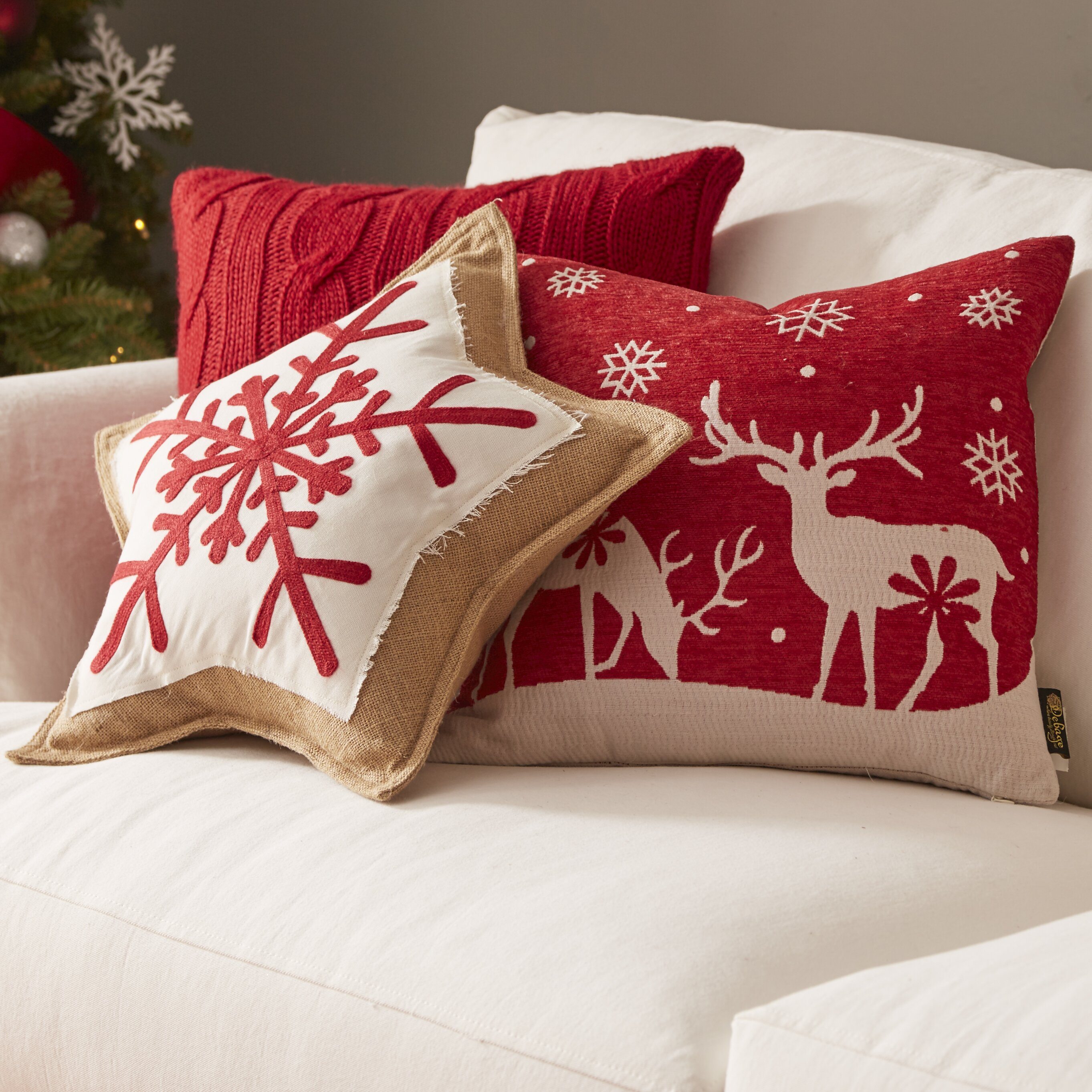 Jute Throw Pillow : Safavieh Snowflake Cookie Jute Throw Pillow & Reviews Wayfair