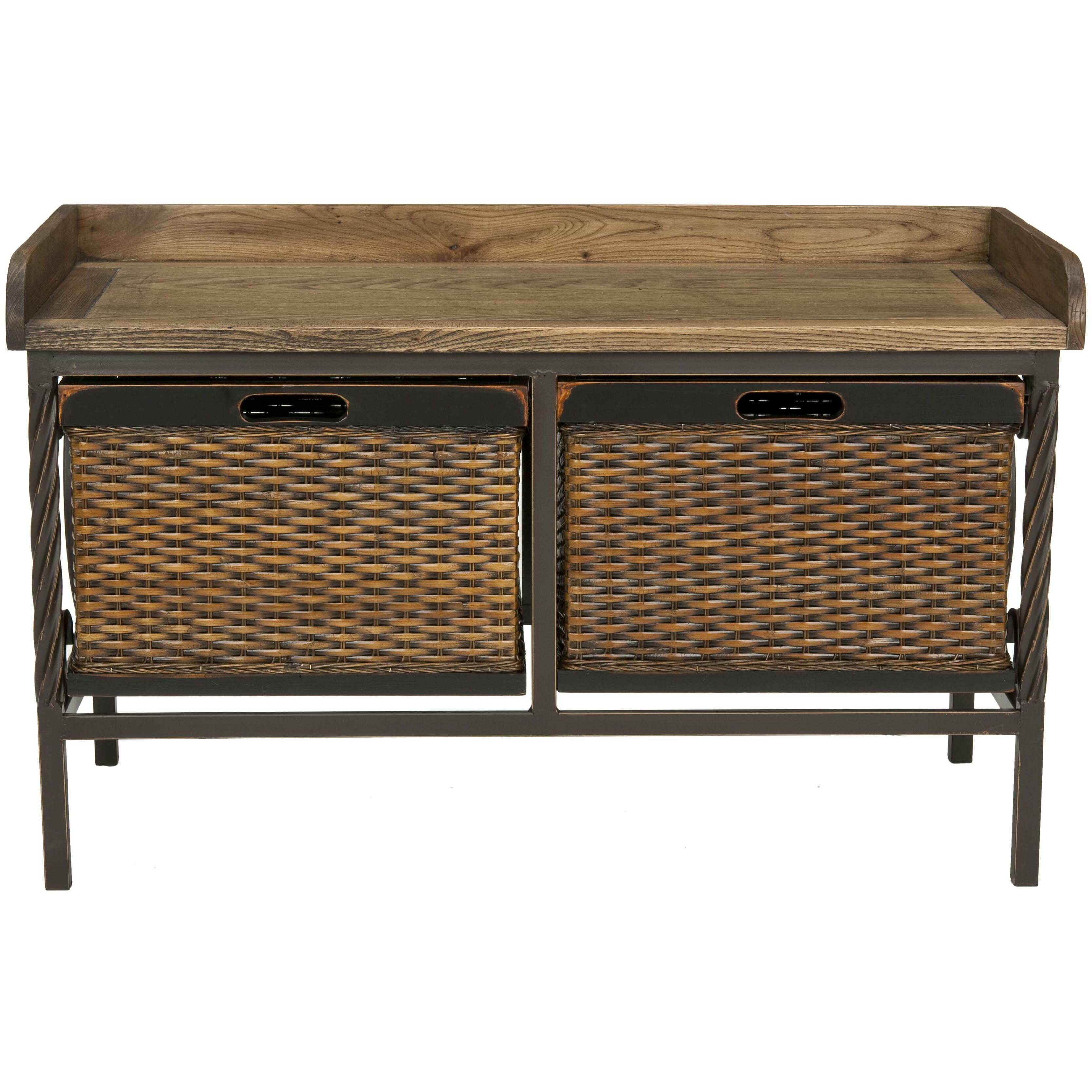 Safavieh Bergen Wood And Metal Storage Bench Reviews