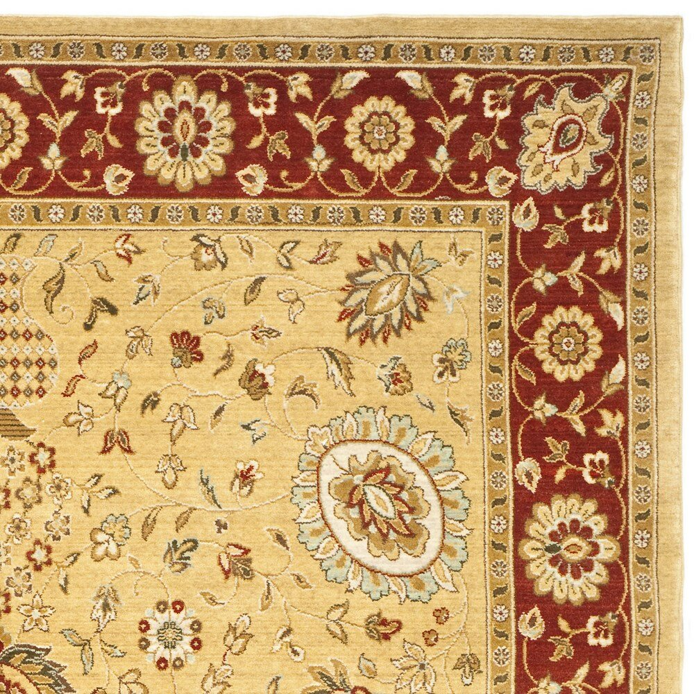 Safavieh tuscany gold red area rug reviews wayfair for Red and gold area rugs