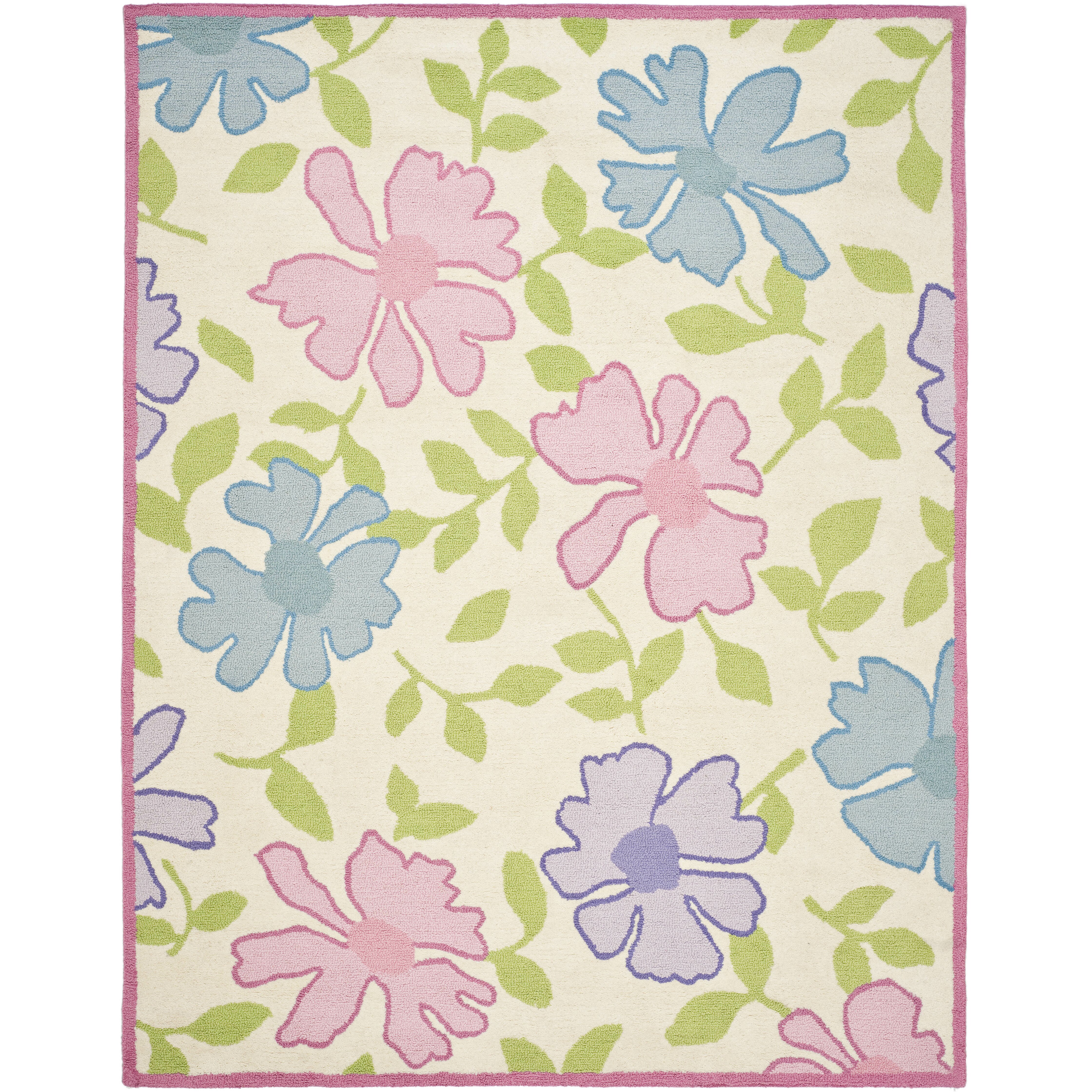 safavieh kids pink flower area rug cheerful home office rug wayfair safavieh