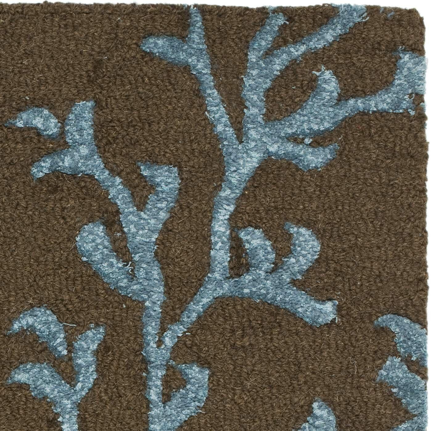 safavieh soho brown light blue area rug reviews wayfair
