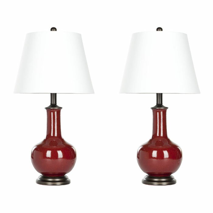 safavieh 22 table lamps set of 2 reviews. Black Bedroom Furniture Sets. Home Design Ideas