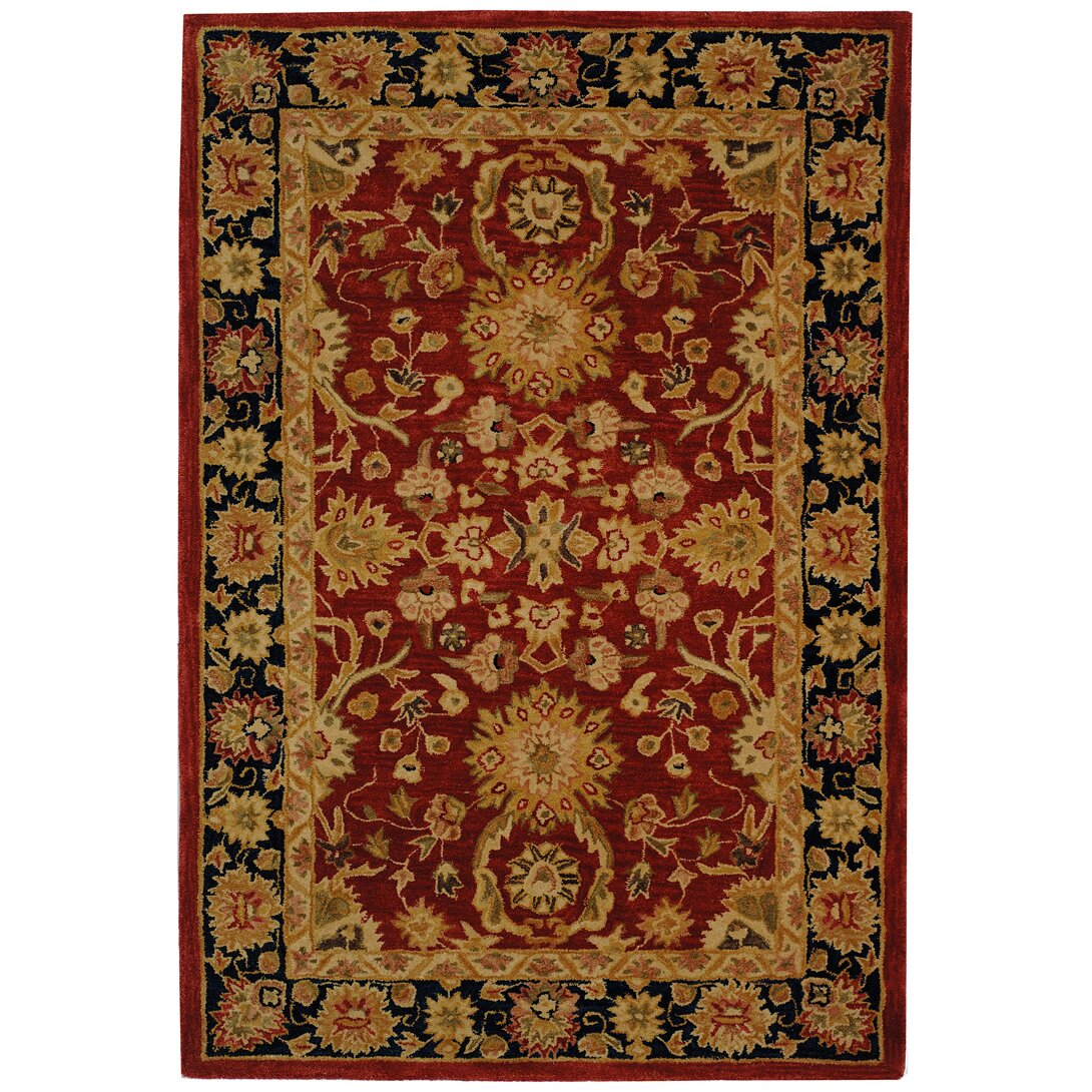 Safavieh anatolia red navy area rug reviews wayfair for Red and navy rug