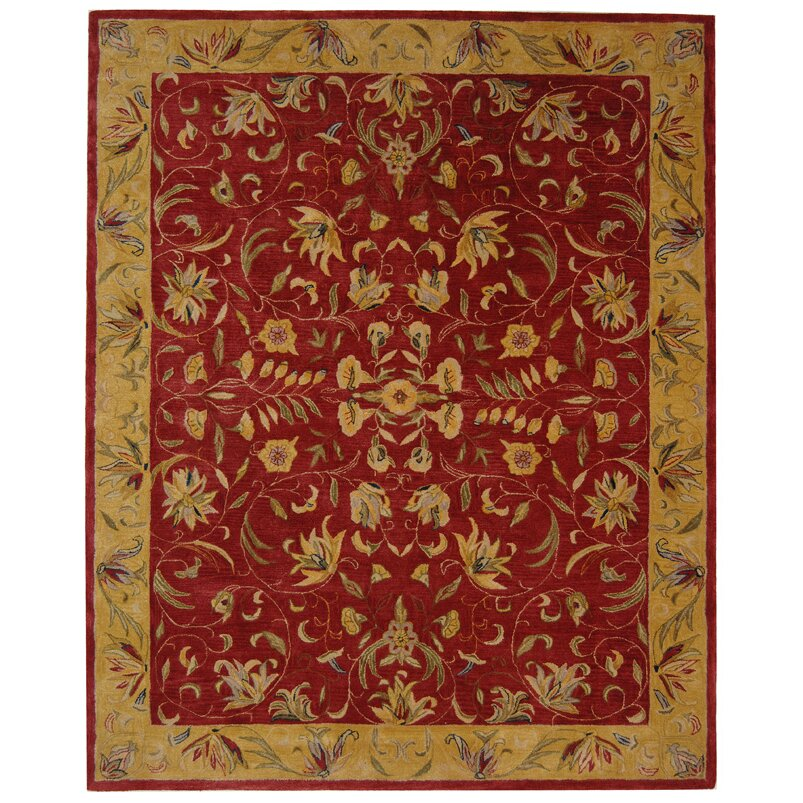 Safavieh Anatolia Burgundy/Gold Area Rug & Reviews