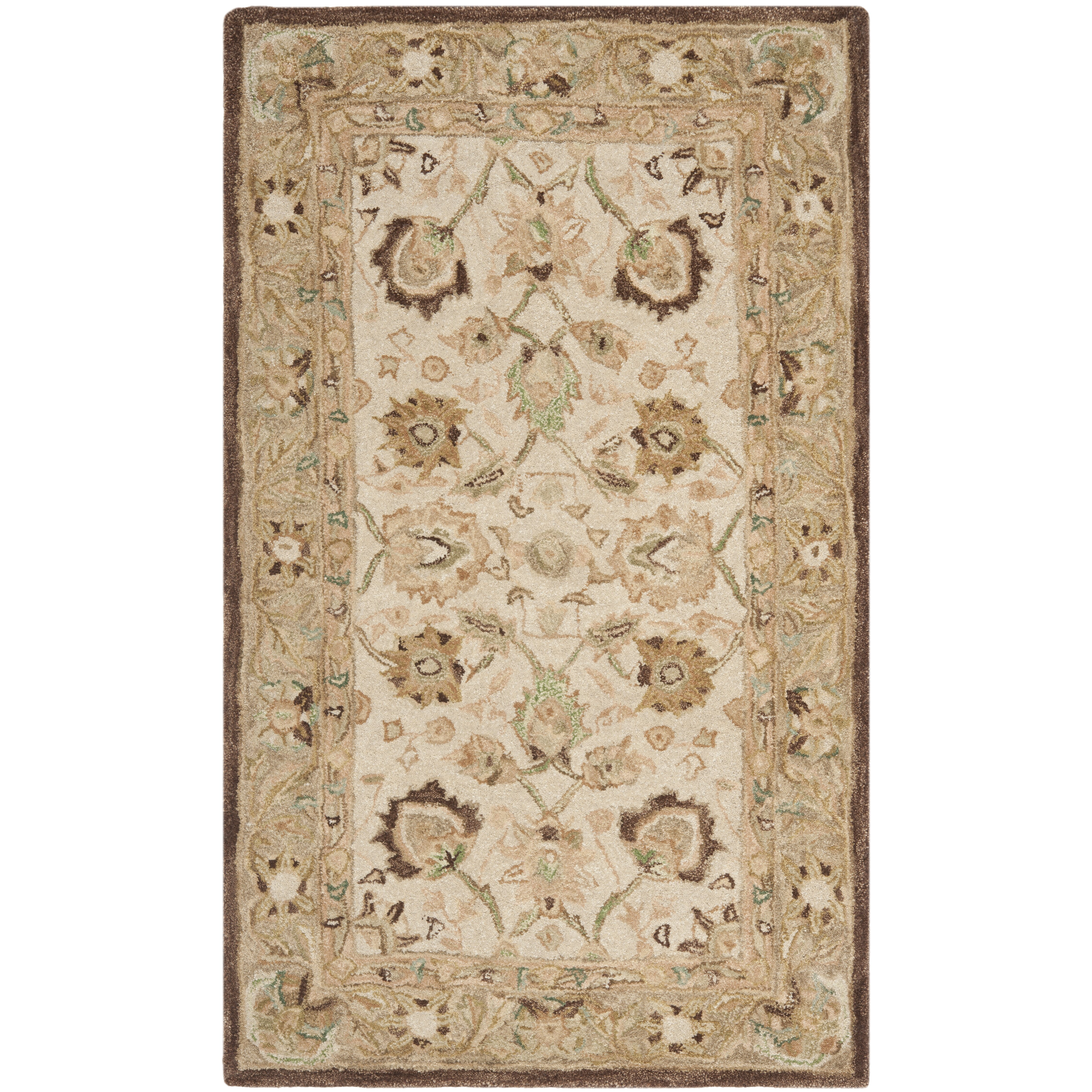Safavieh anatolia ivory brown area rug reviews wayfair for Carpets and area rugs