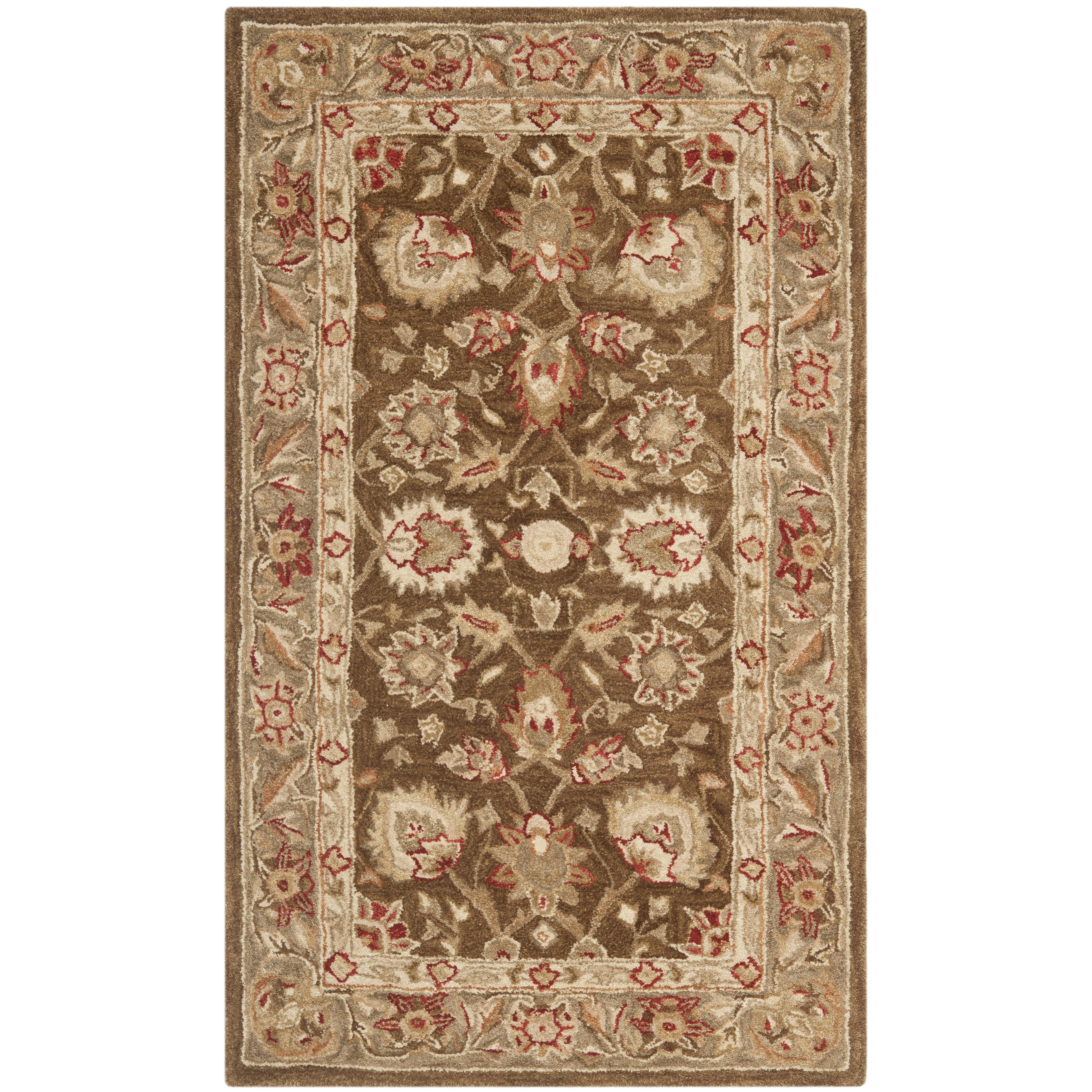 Safavieh Anatolia Brown/Green Area Rug & Reviews