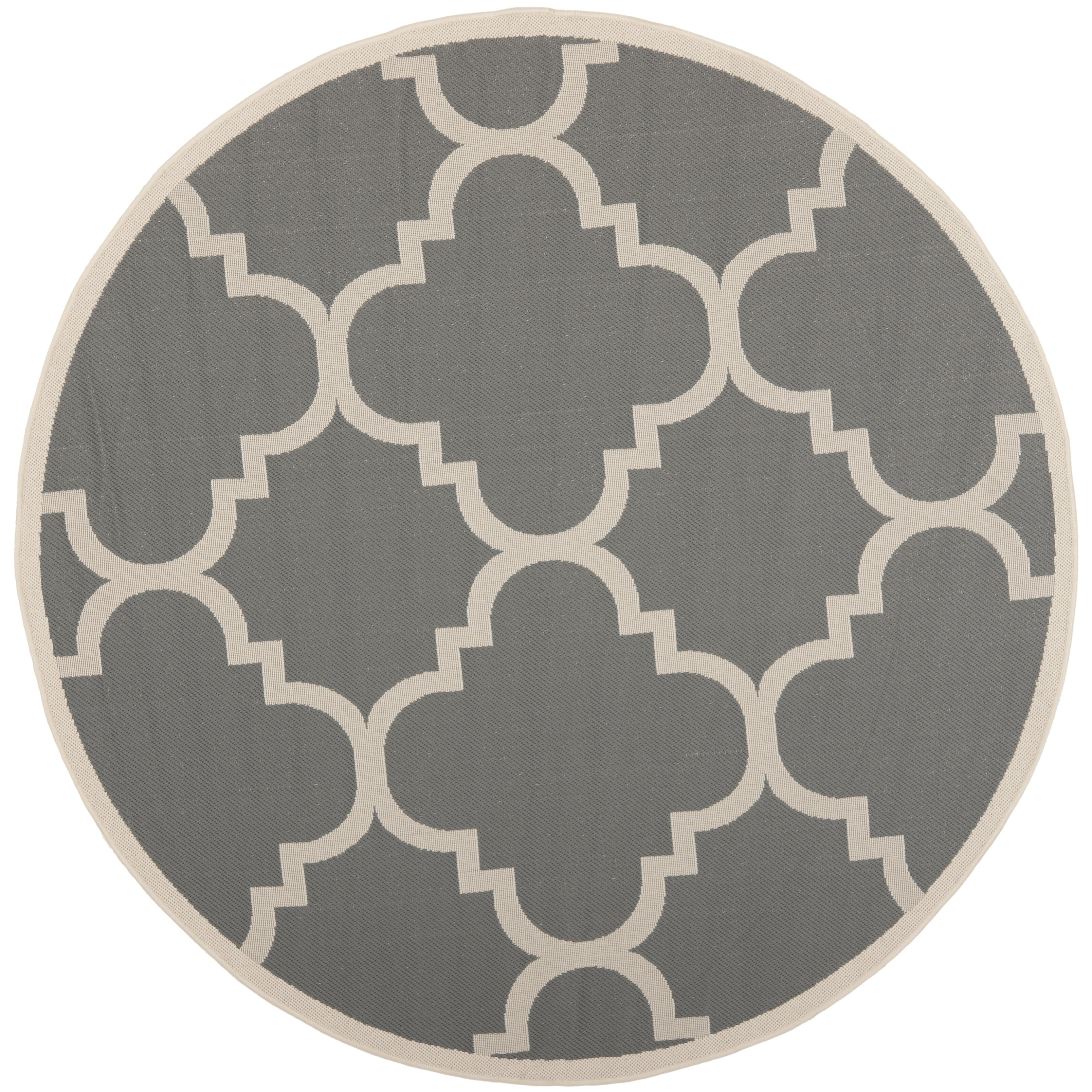 Safavieh courtyard grey beige area rug reviews wayfair for Grey and tan rug