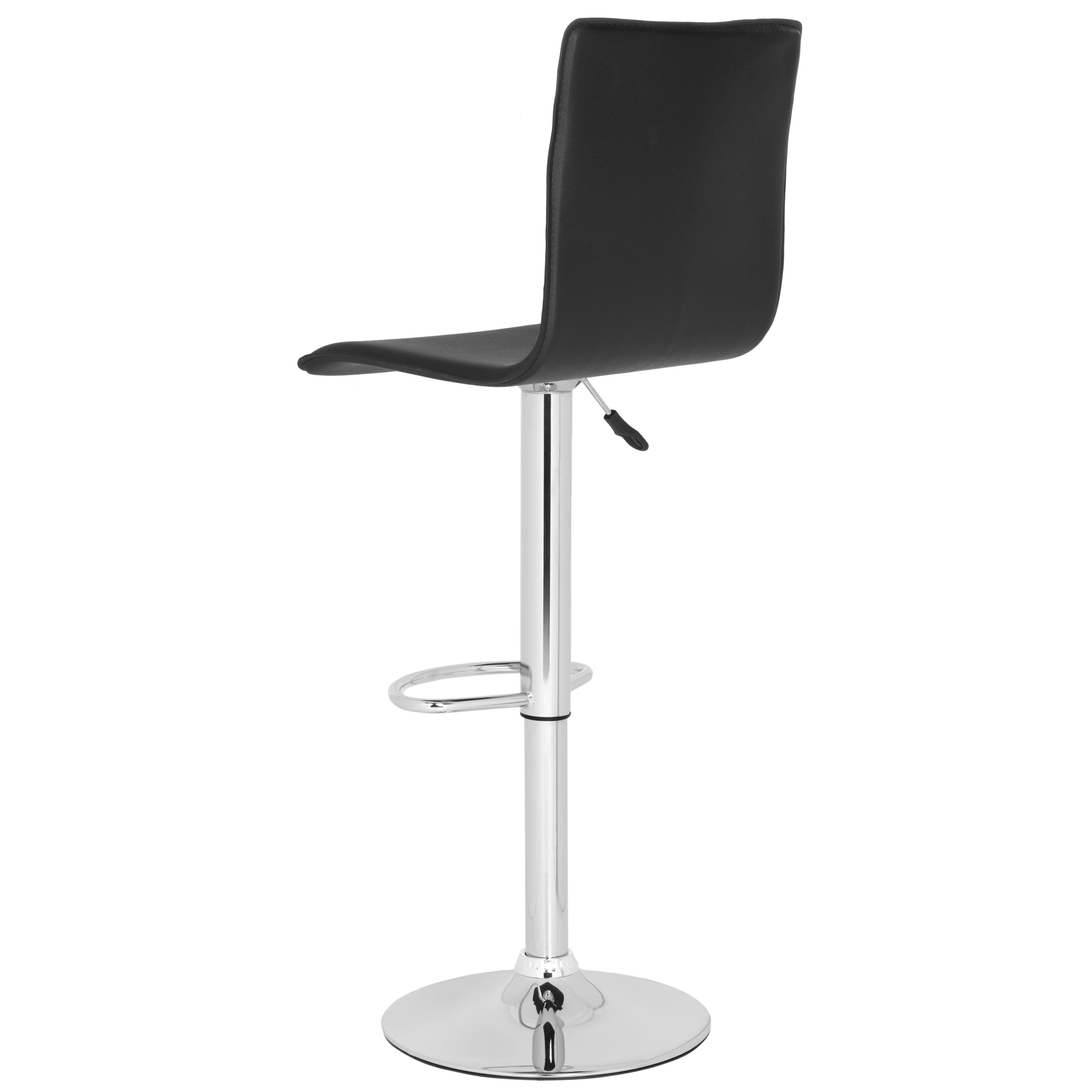 Safavieh magda adjustable height swivel bar stool for Bar stools clearance