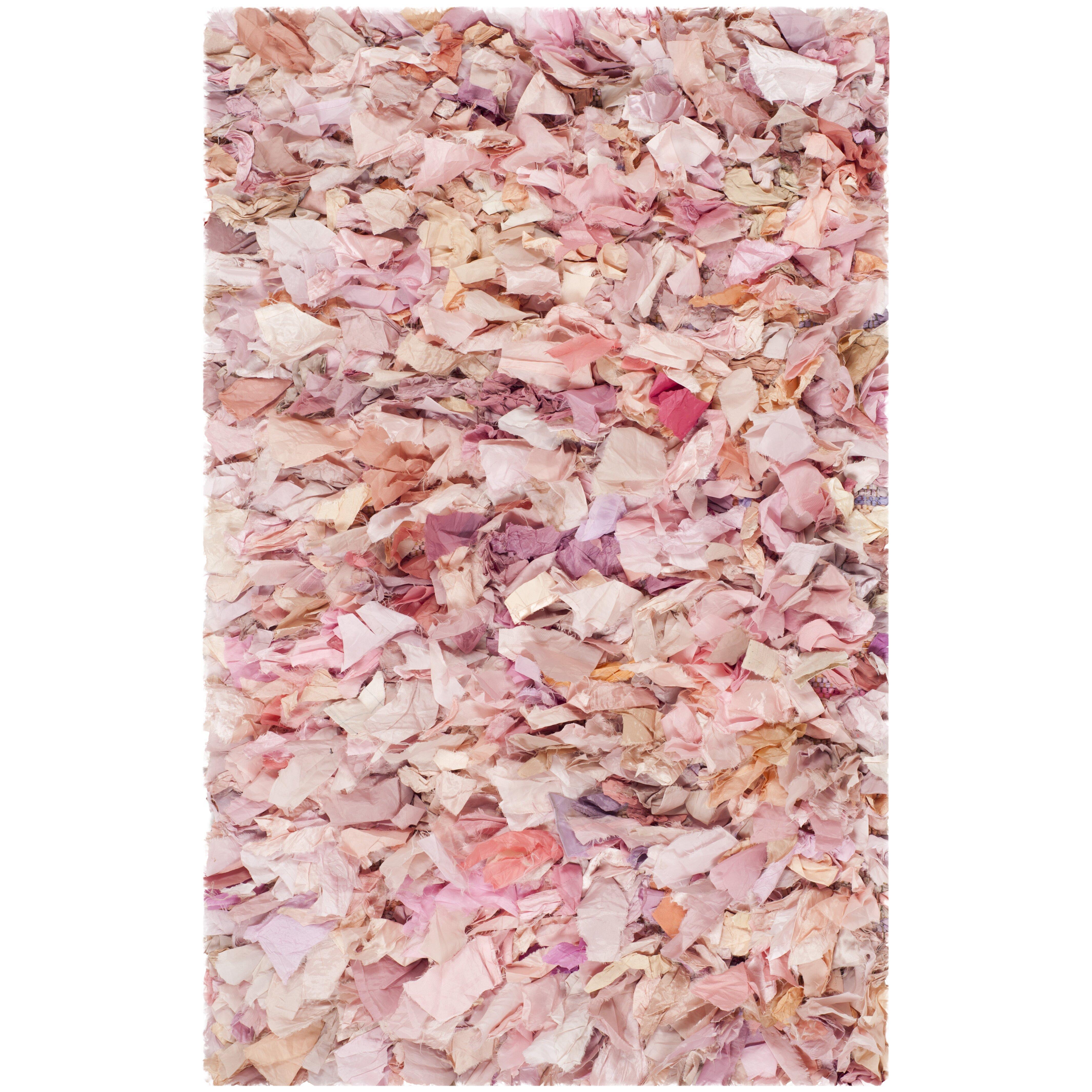 Safavieh Ivory Pink Shag Area Rug Reviews Wayfair