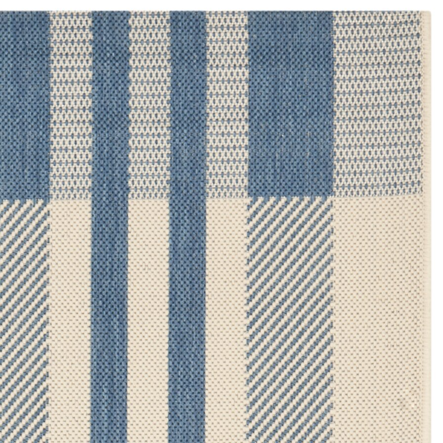 Safavieh Courtyard Beige Blue Indoor Outdoor Rug & Reviews