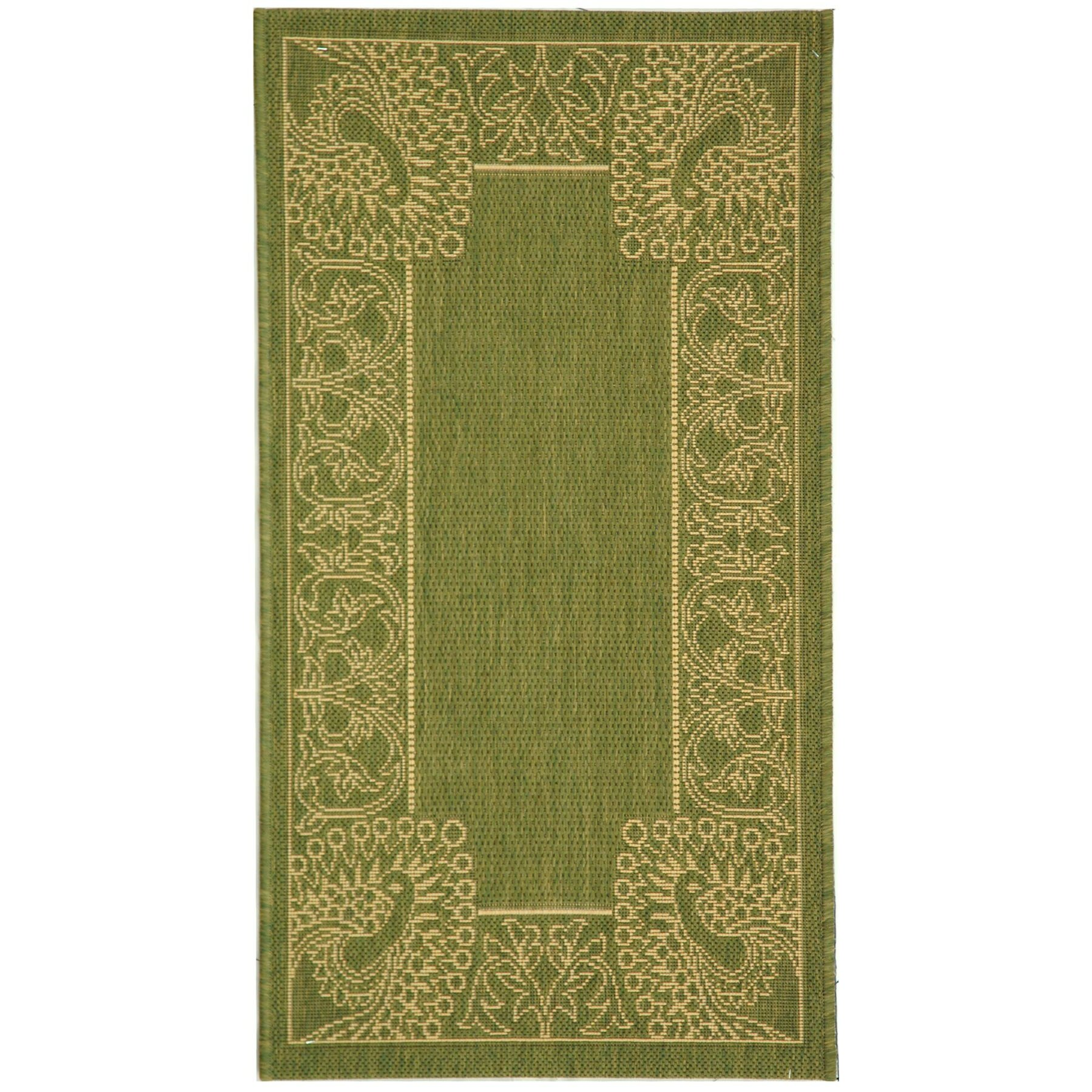 Safavieh Carpet: Safavieh Courtyard Olive/Natural Rug & Reviews