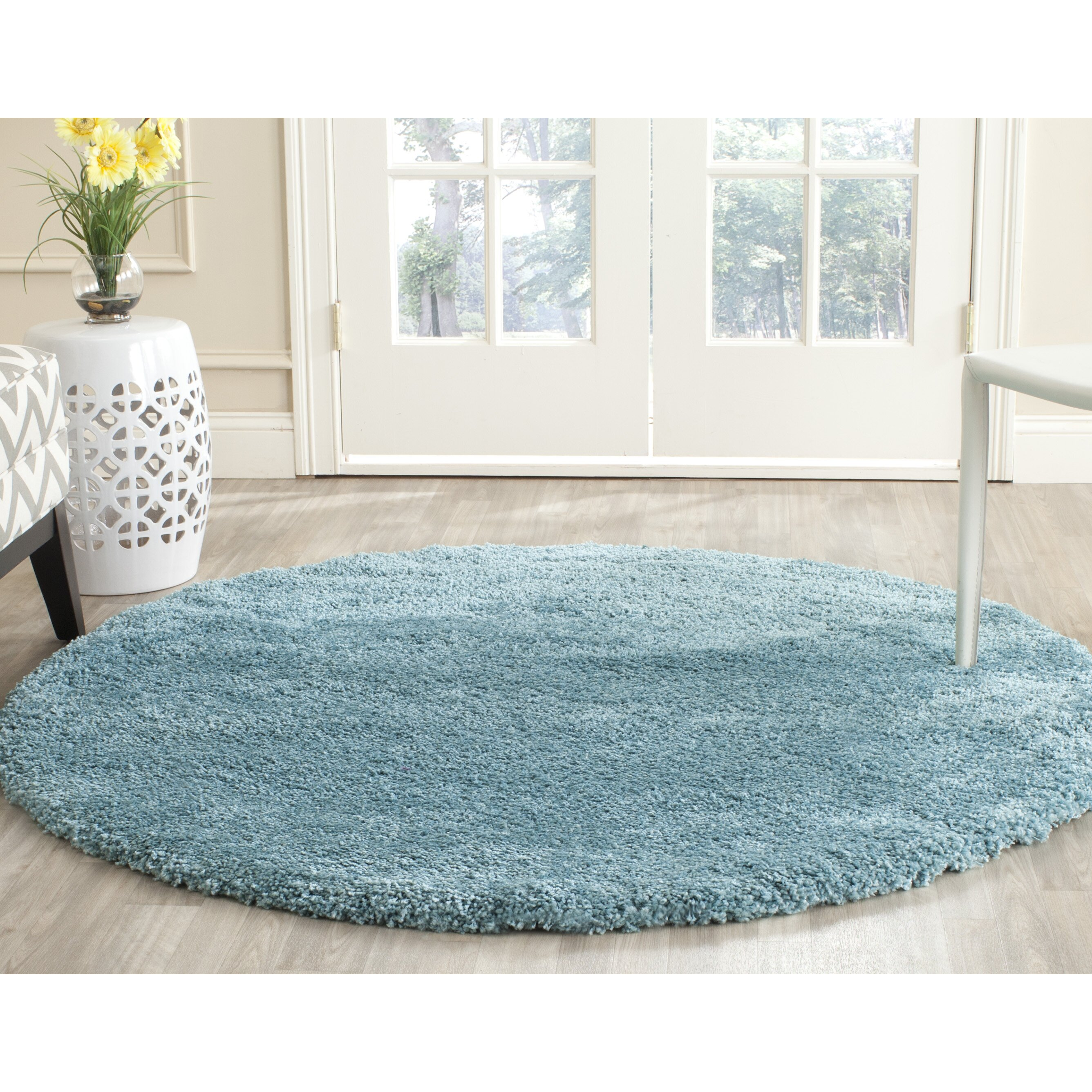 Safavieh Milan Shag Aqua Blue Area Rug & Reviews