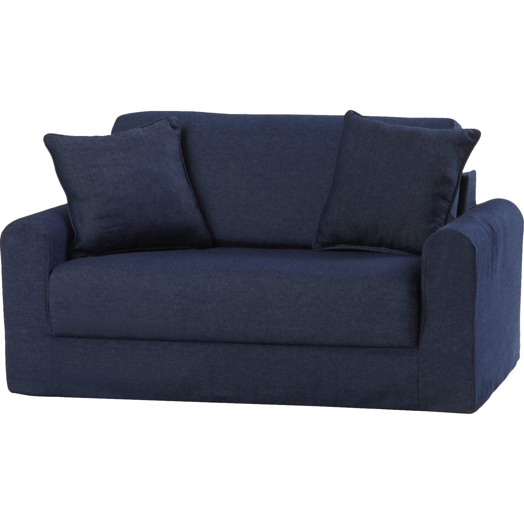 Fun furnishings children 39 s suede sofa sleeper reviews for Suede furniture