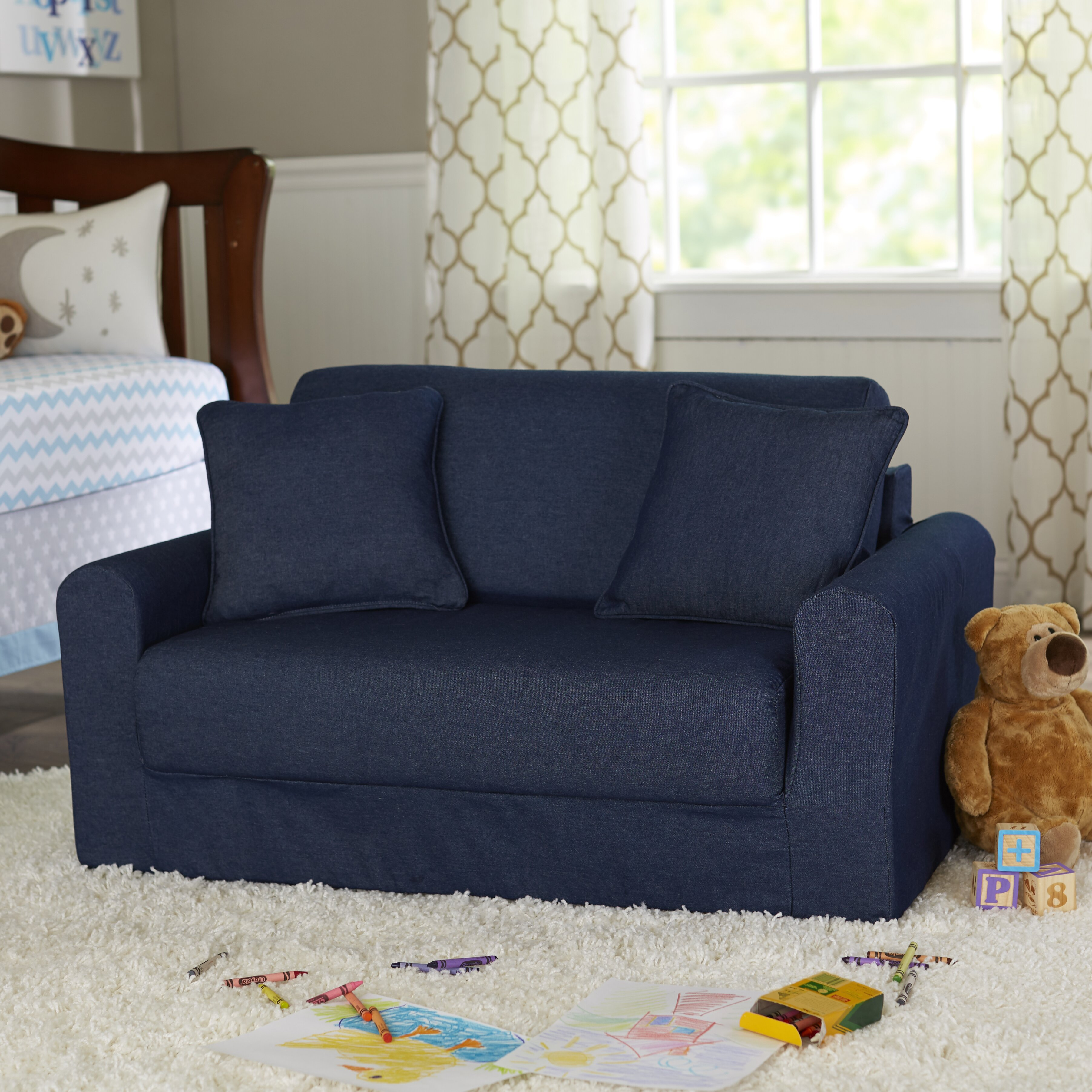 Fun Furnishings Children S Suede Sofa Sleeper Amp Reviews