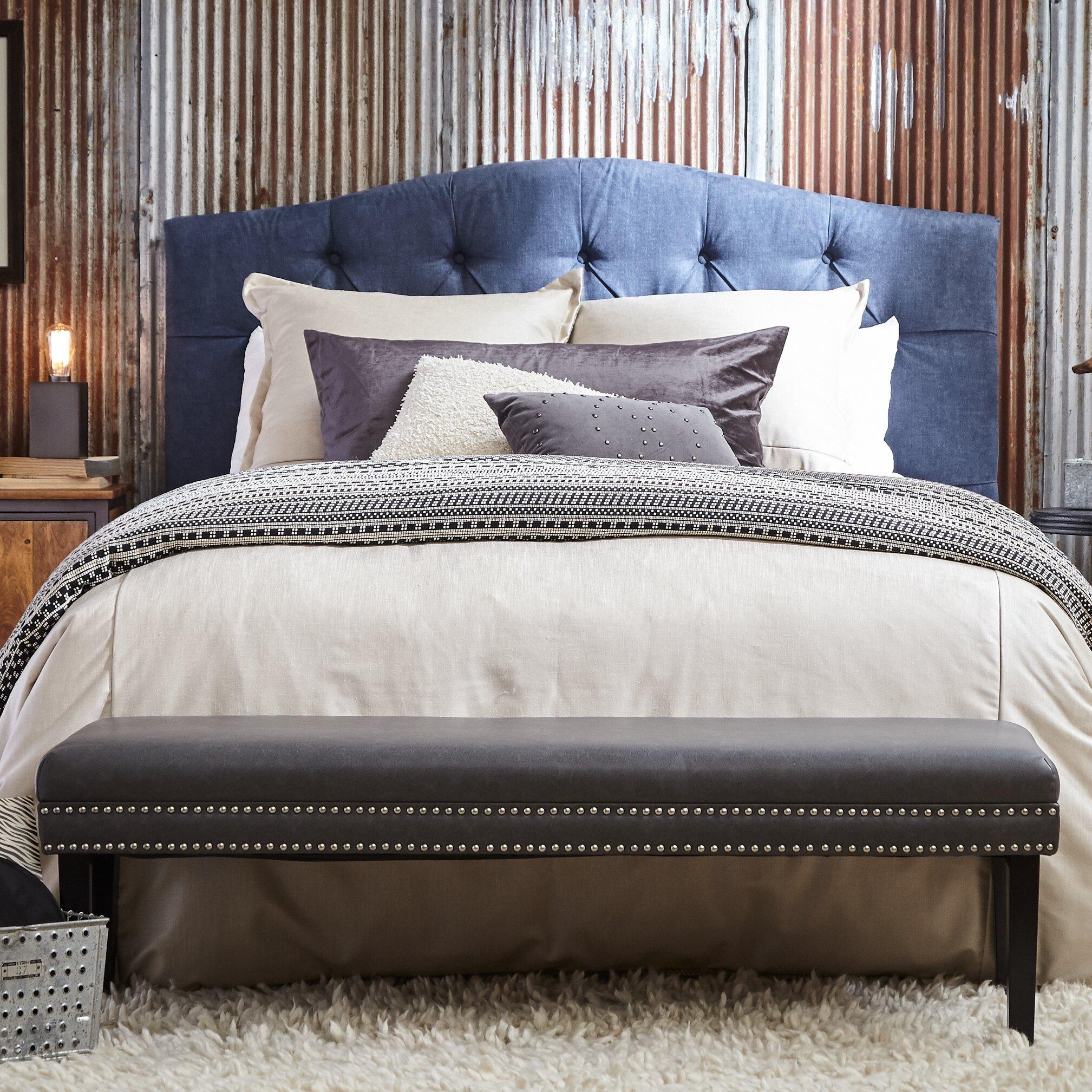 highway upholstered bedroom bench reviews wayfair