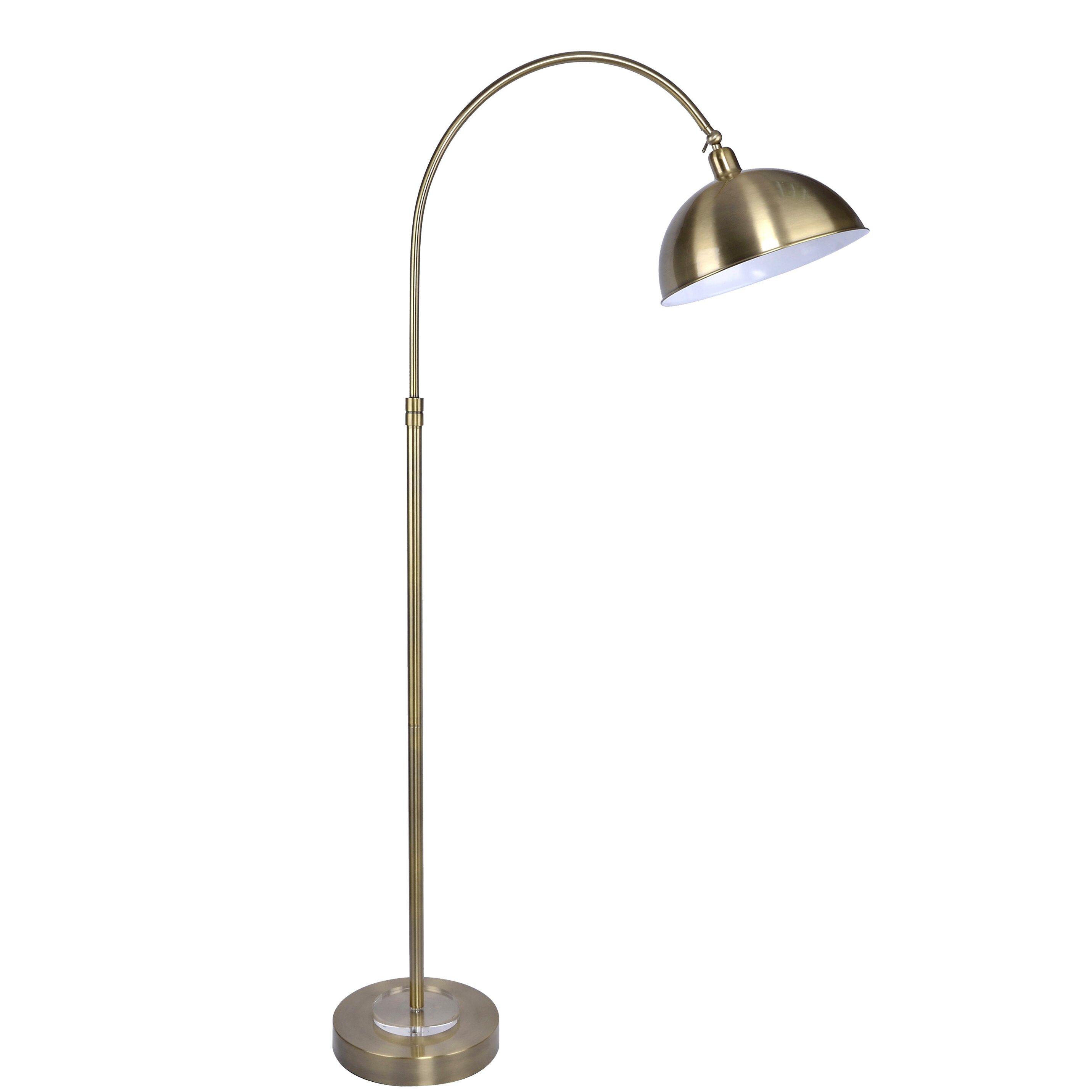Grandview gallery vintage 63 5 arched floor lamp for Wayfair industrial lamp