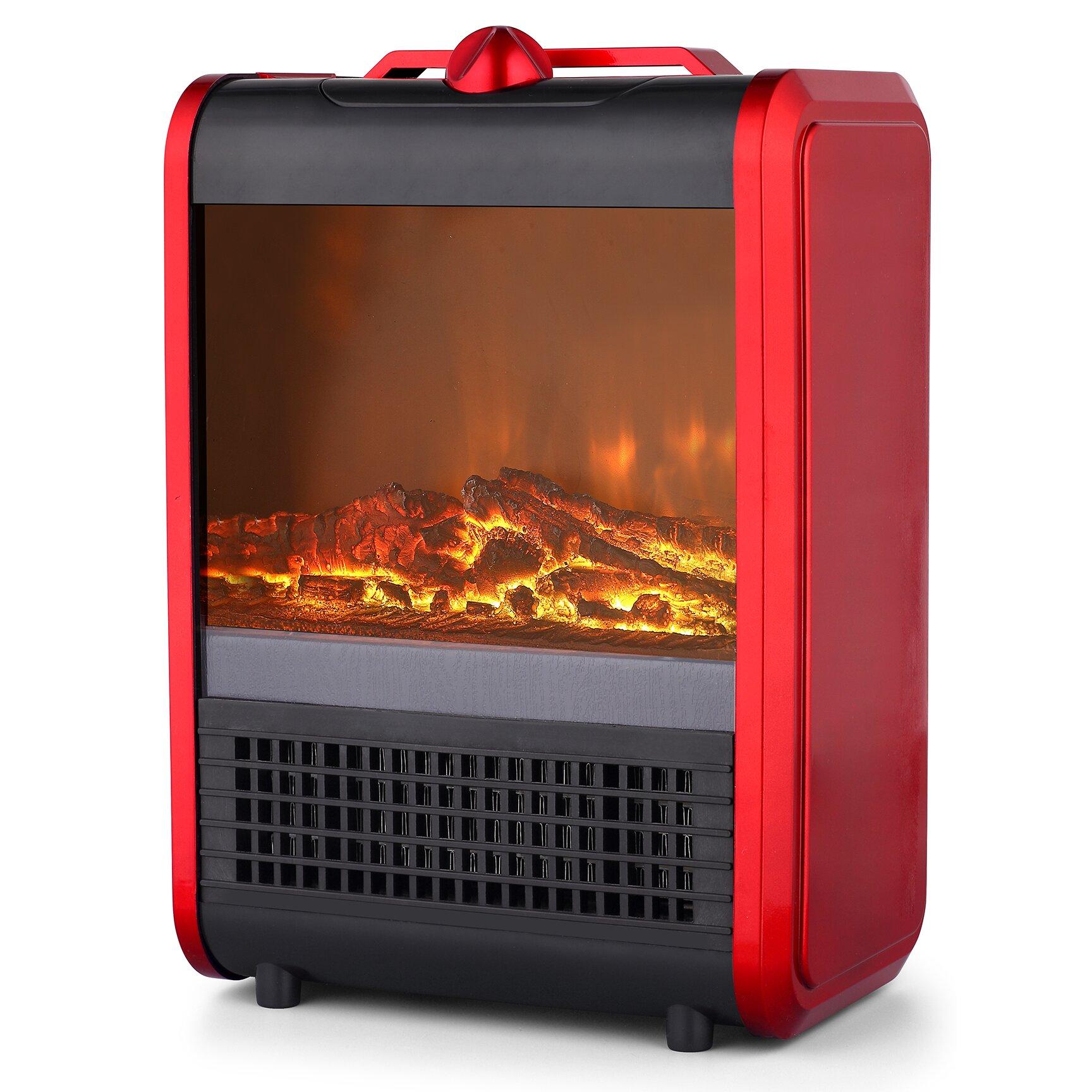 prfh ceramic mini fireplace 750 1 500 watt portable