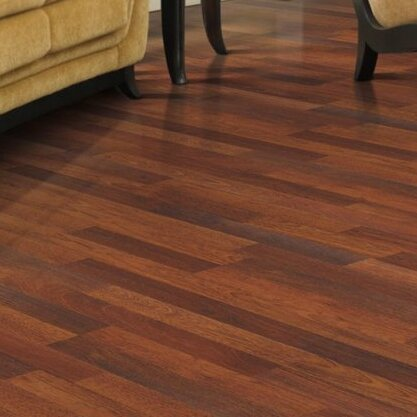 Mohawk genova 6 x 54 x 8mm merbau laminate in natural for Mohawk flooring reviews