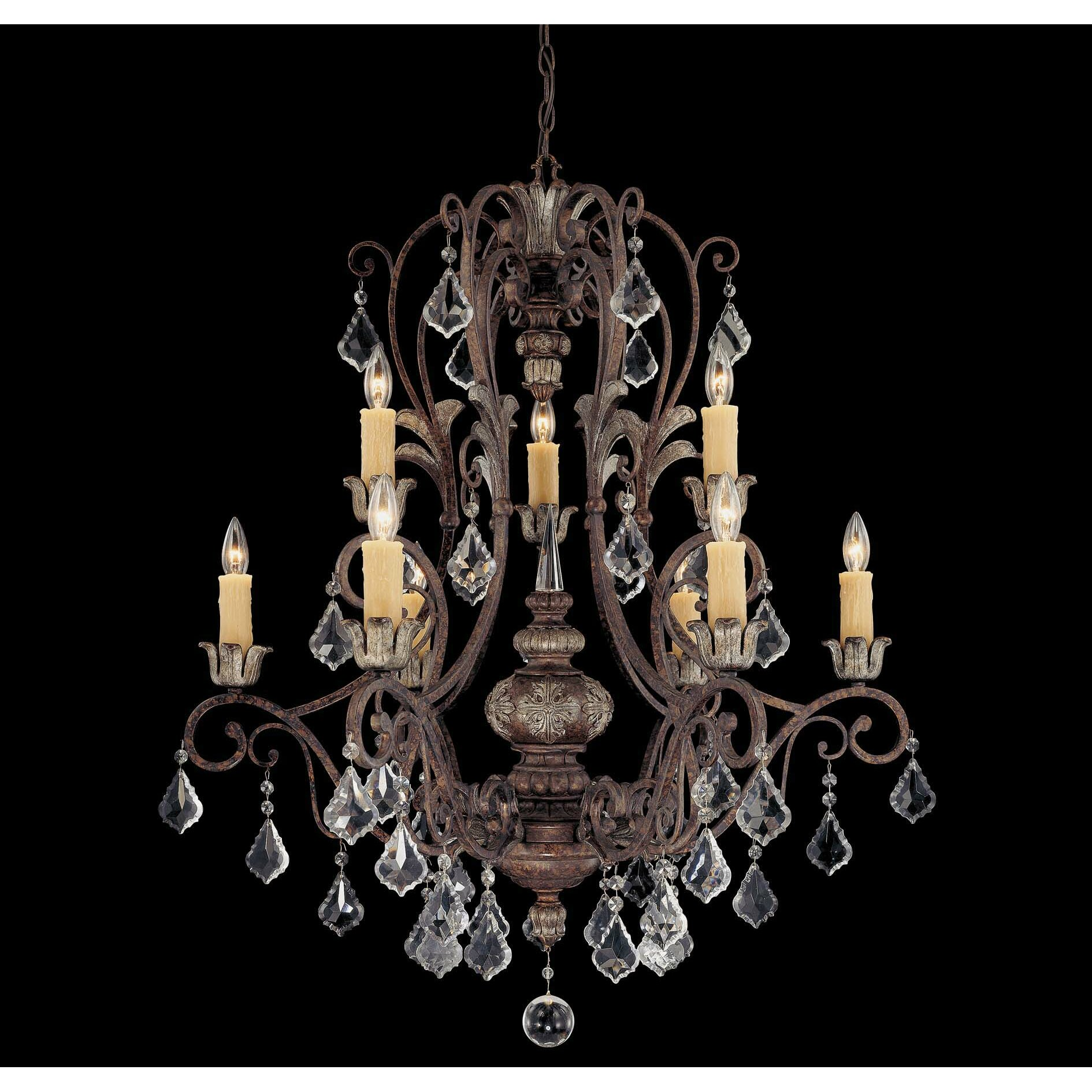 Savoy house elizabeth 9 light chandelier reviews wayfair for Savoy house