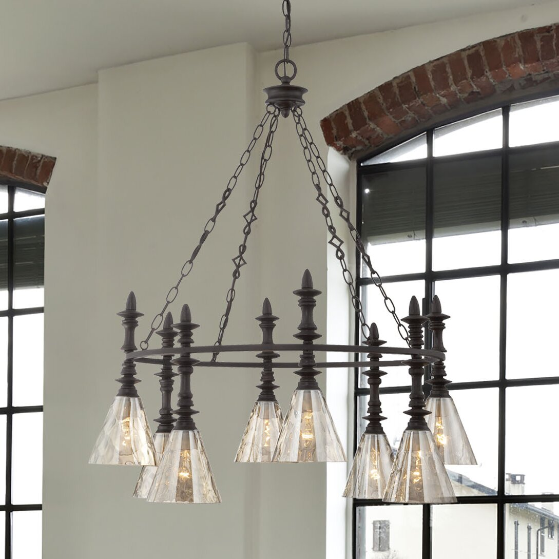 Savoy house darian 8 light chandelier reviews wayfair for Savoy house