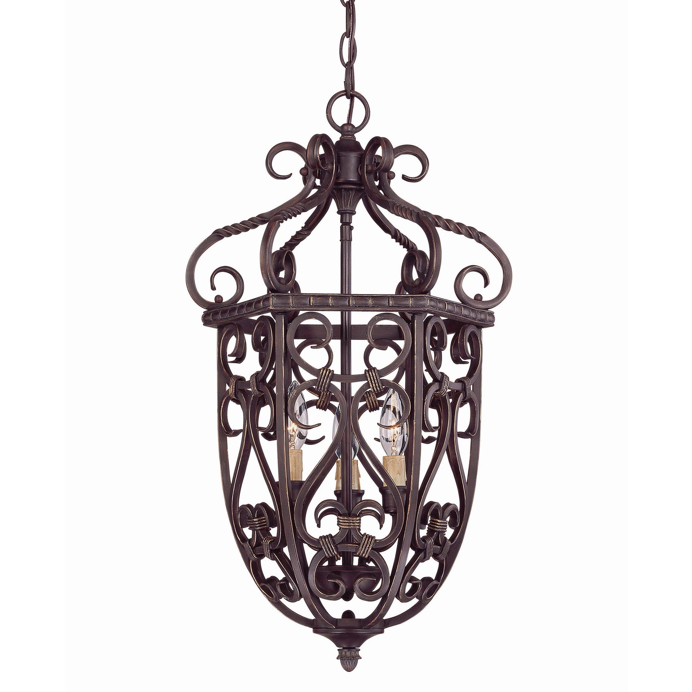 Savoy House Foyer Pendant : Savoy house bellingham light cage foyer pendant