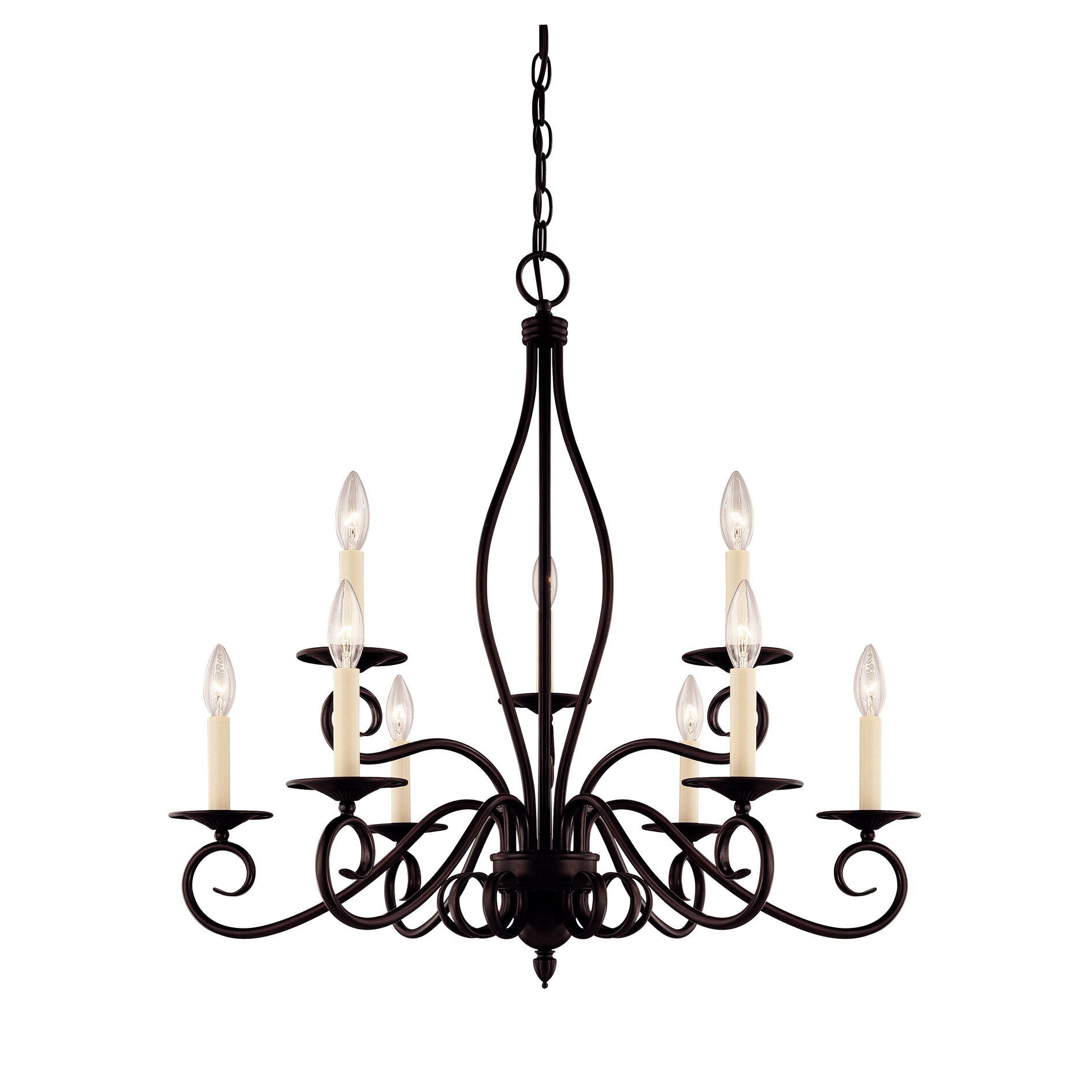 Savoy House Bryce 9 Light Chandelier Reviews Wayfair