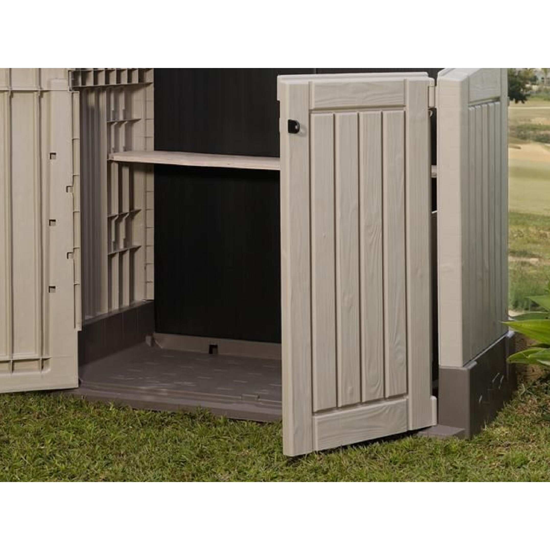 keter store it out midi 4 ft w x 2 39 5 ft d plastic store it out shed reviews wayfair. Black Bedroom Furniture Sets. Home Design Ideas