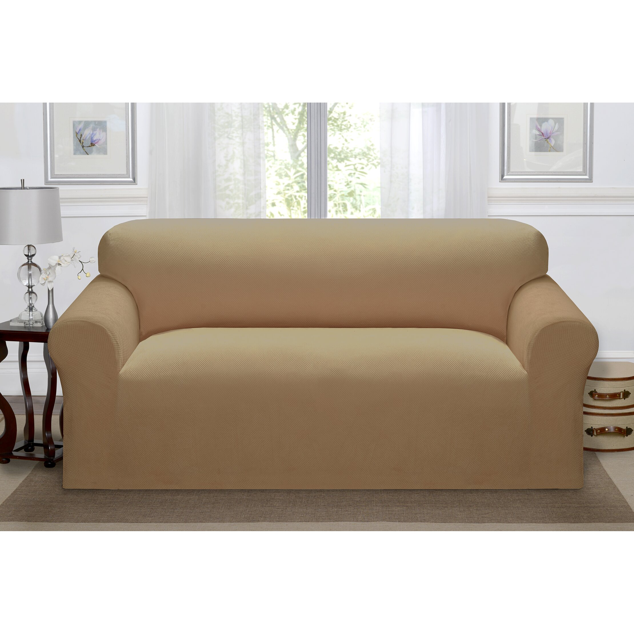 kathy ireland home day break polyester sofa slipcover wayfair