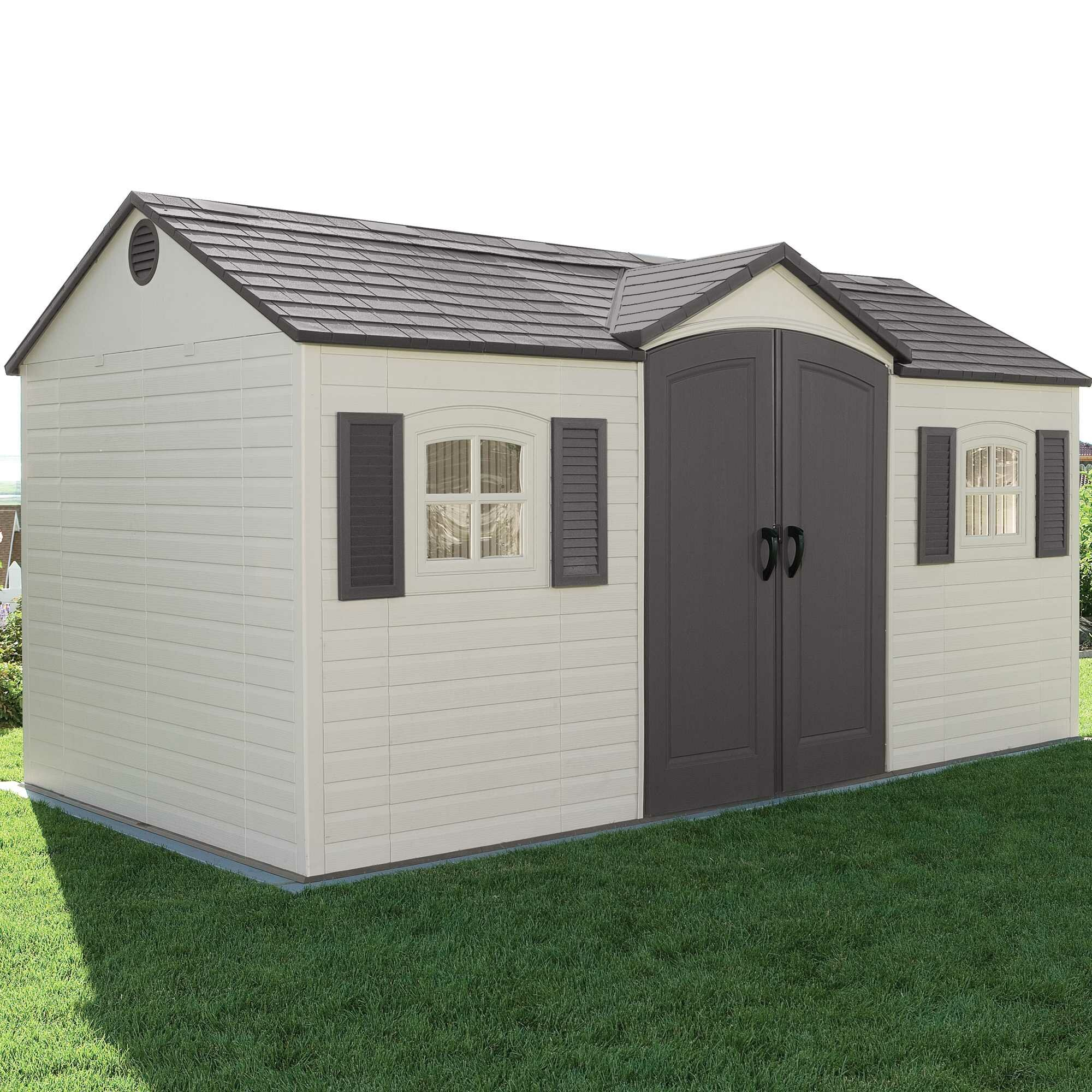 Side Entry 15 Ft. W x 8 Ft. D Plastic Storage Shed & Reviews   Wayfair