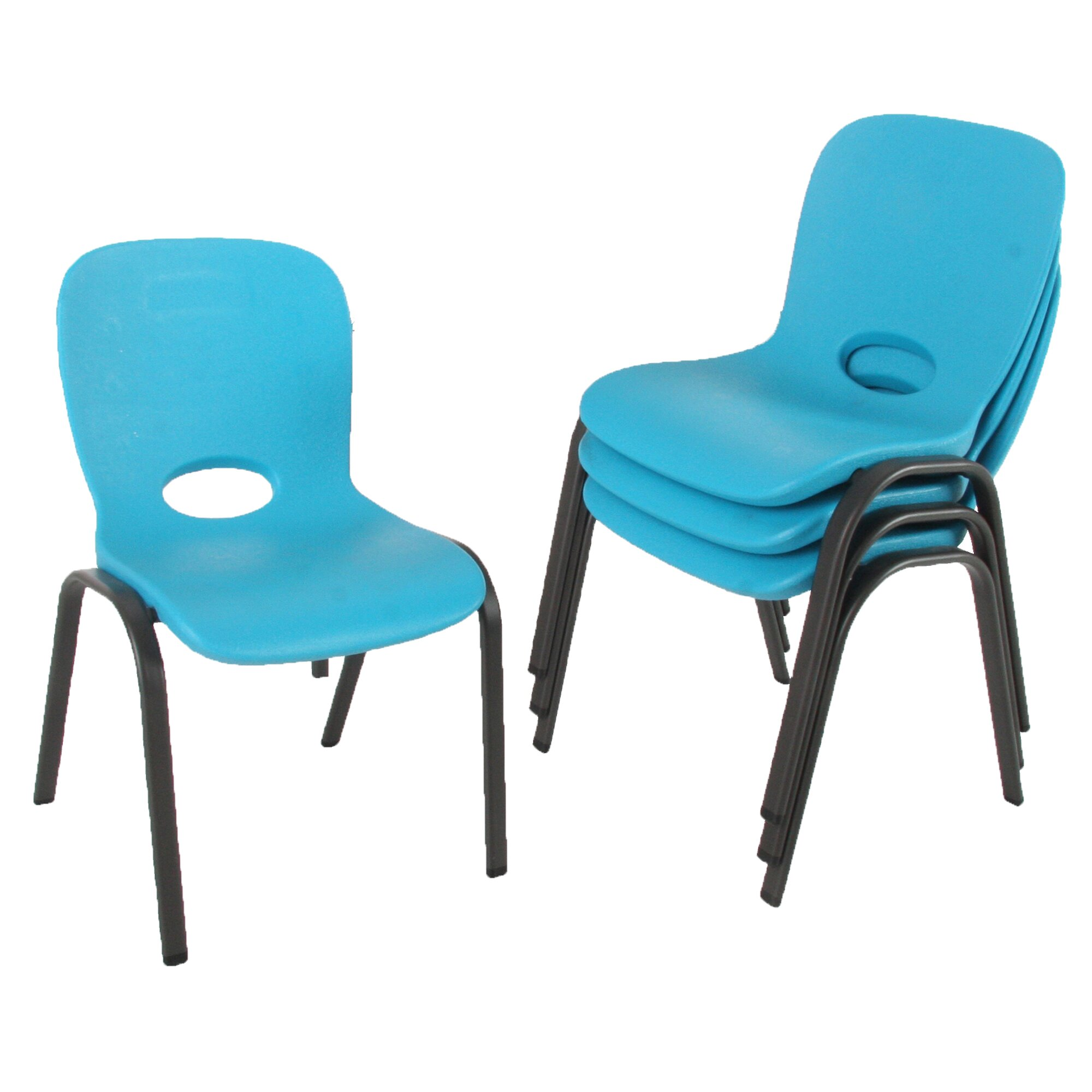 Lifetime Armeless Contemporary Childrens Stacking Chair