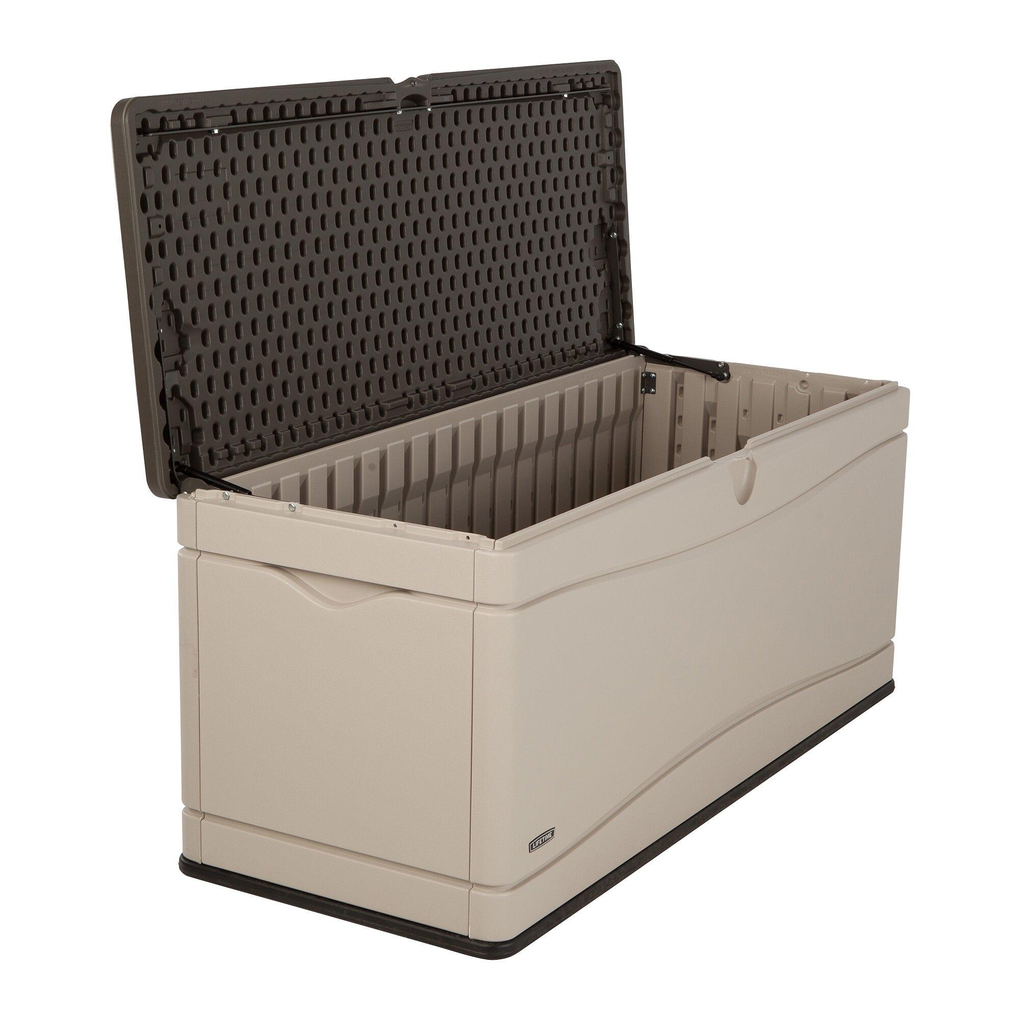 Lifetime 130 Gallon Plastic Deck Box Amp Reviews Wayfair