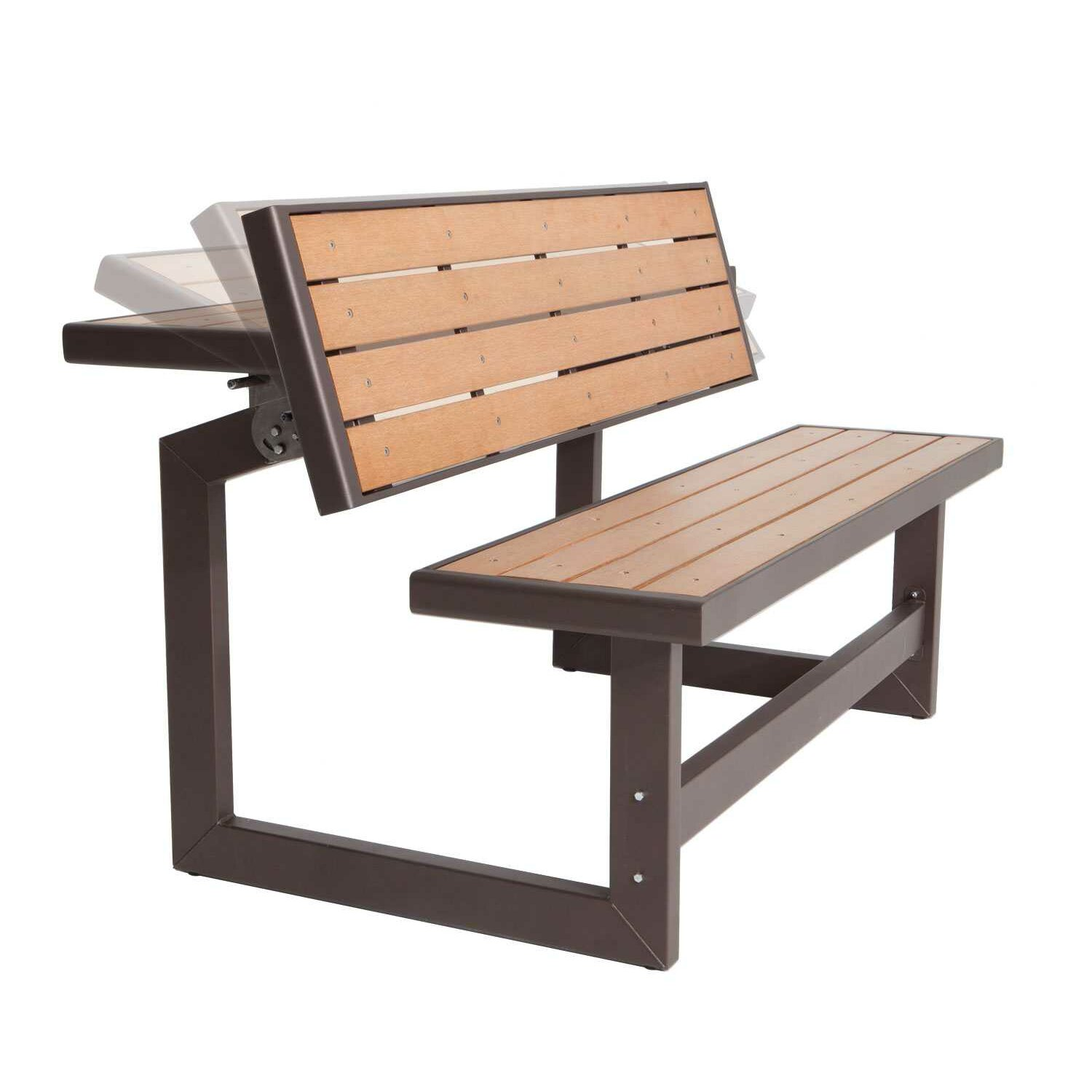 lifetime convertible wood and metal park bench reviews