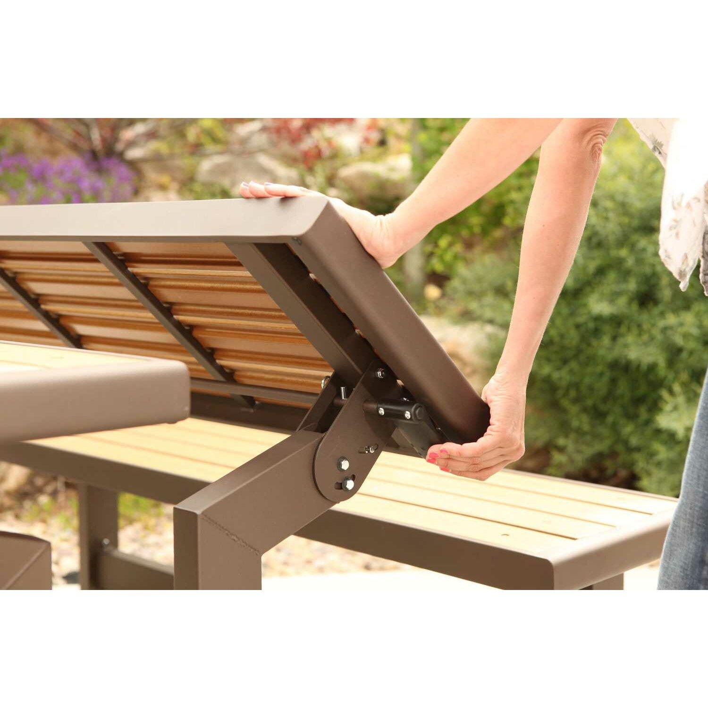 Lifetime convertible wood and metal park bench reviews wayfair Convertible bench