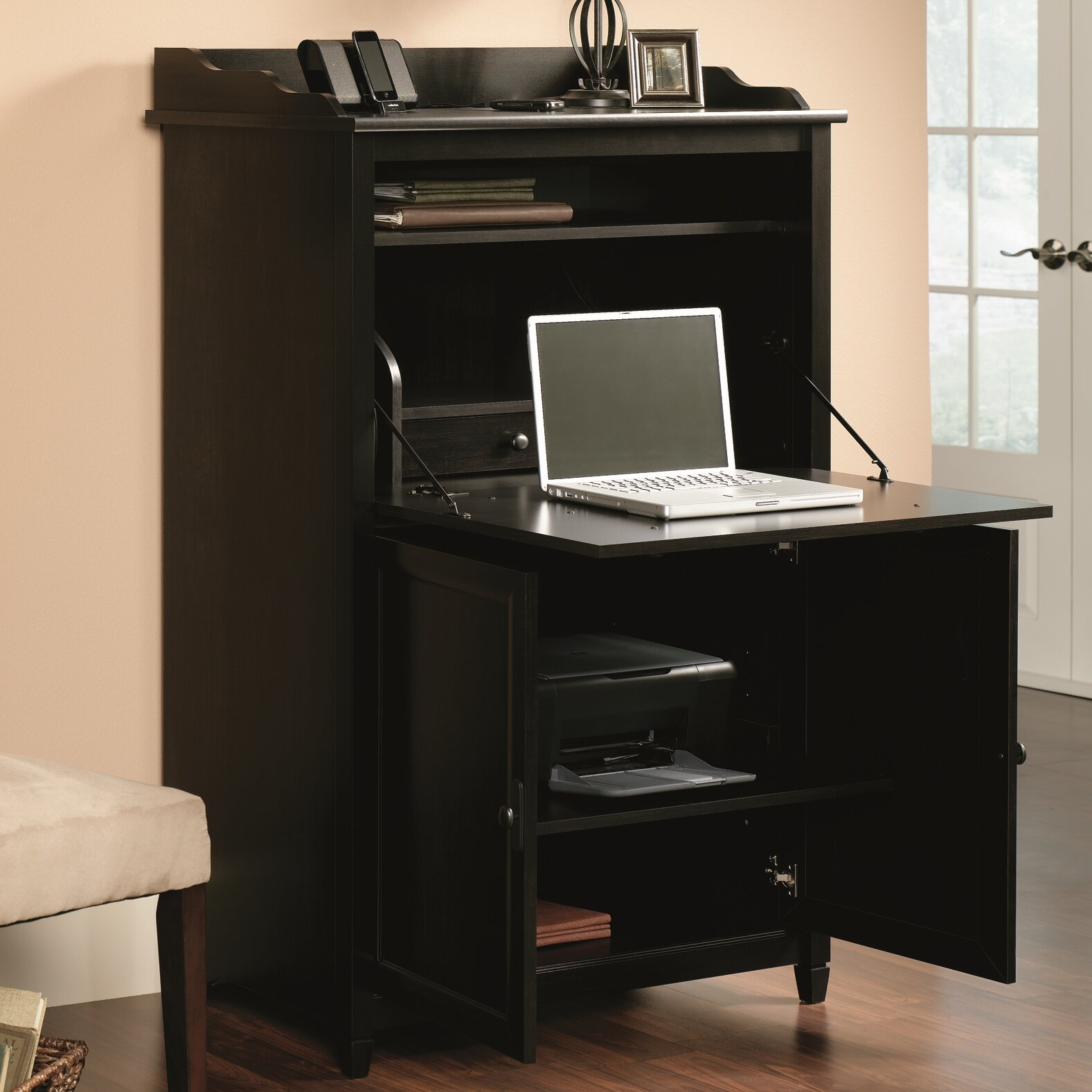 Desk Cabinet: Sauder Edge Water Secretary Desk & Reviews