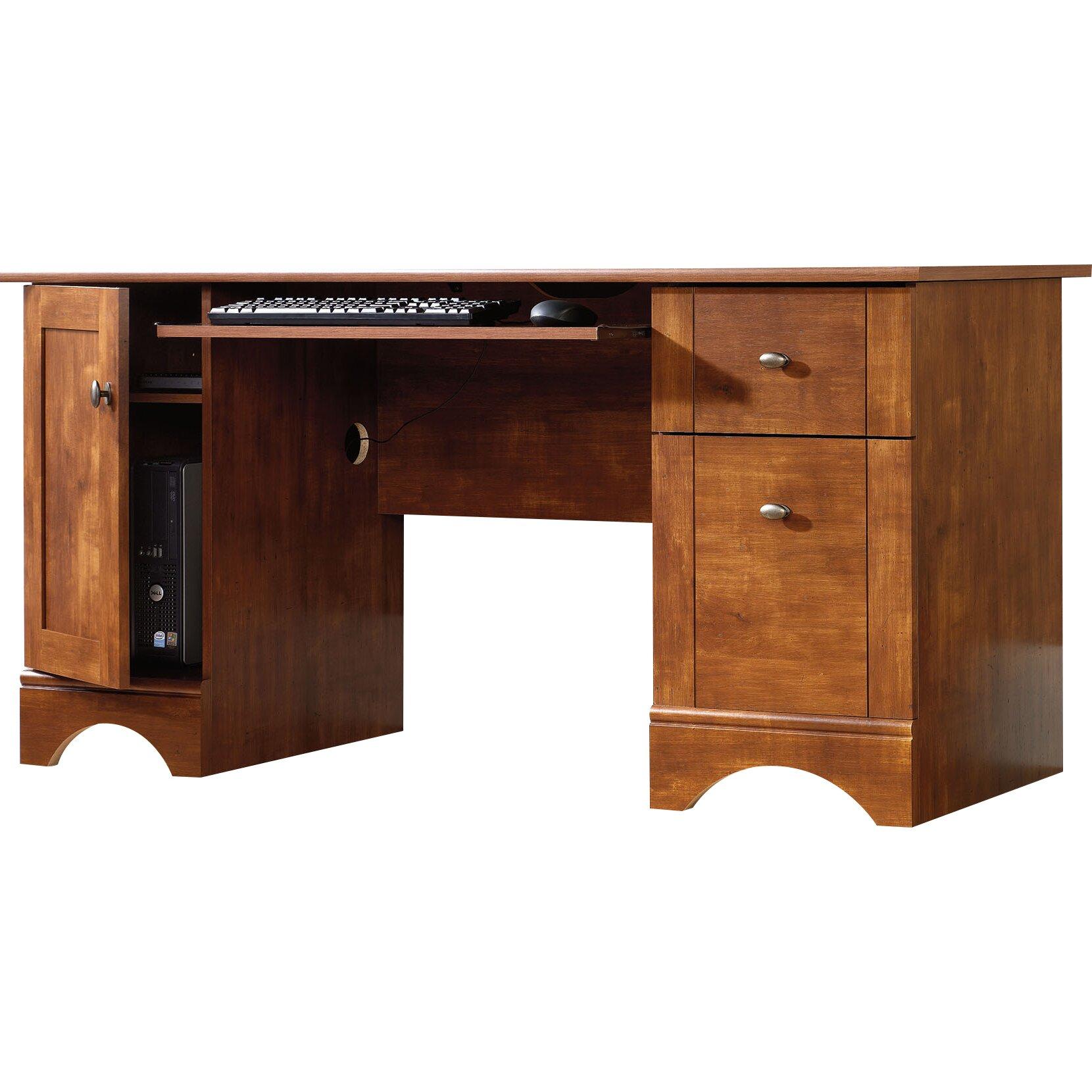 sauder computer desk with 2 storage drawers reviews. Black Bedroom Furniture Sets. Home Design Ideas