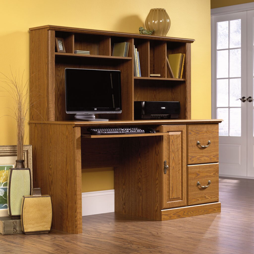 Sauder Orchard Hills Computer Desk With Hutch & Reviews