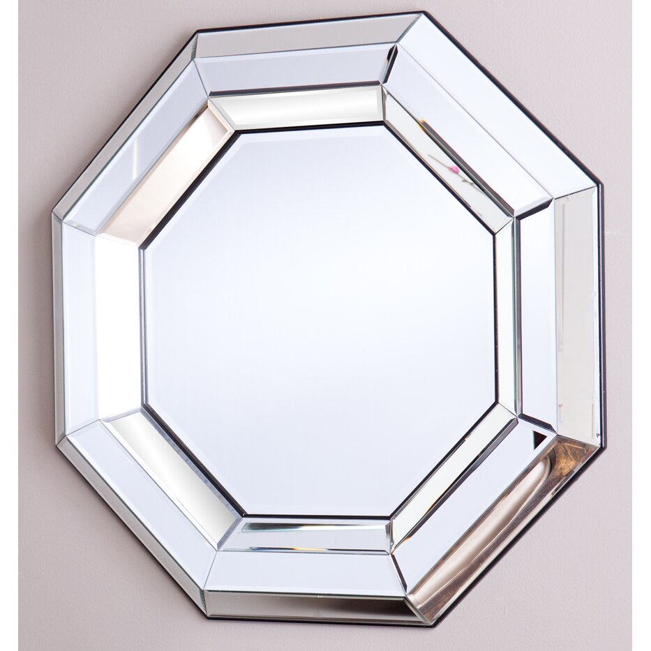Mercer41 octagonal decorative wall mirror reviews wayfair for Accent wall mirrors