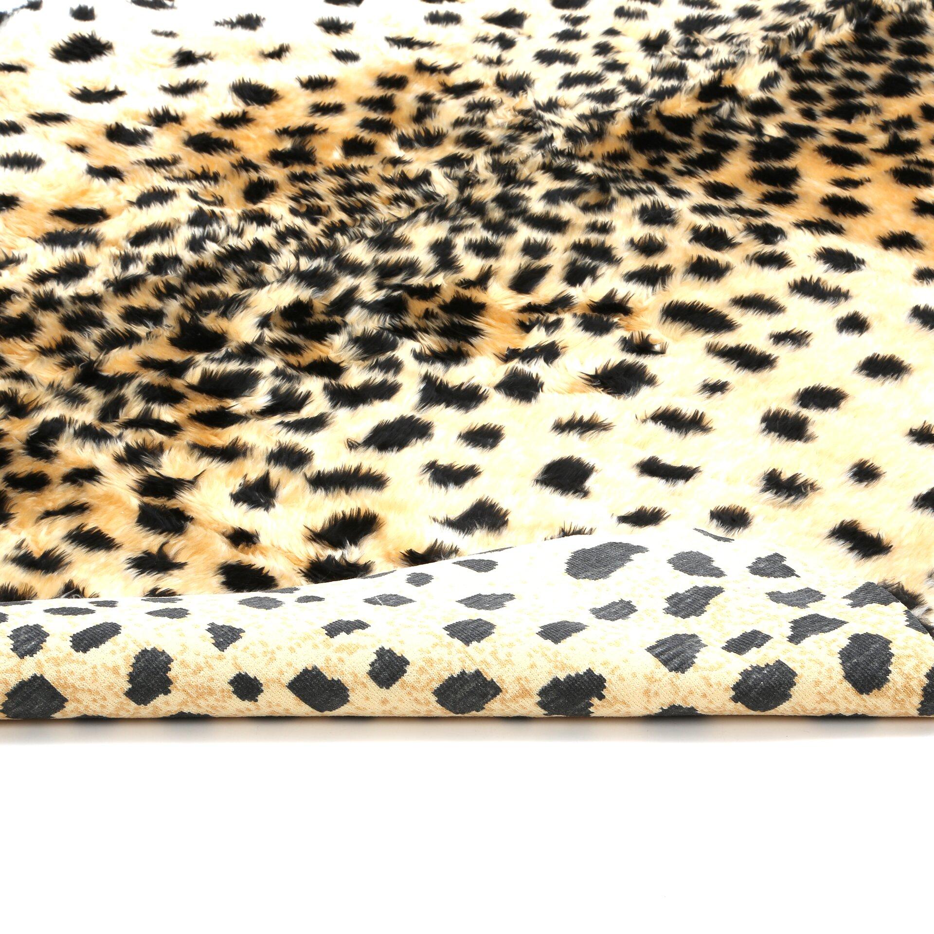 Walk On Me Animal Black Tan Cheetah Area Rug Amp Reviews
