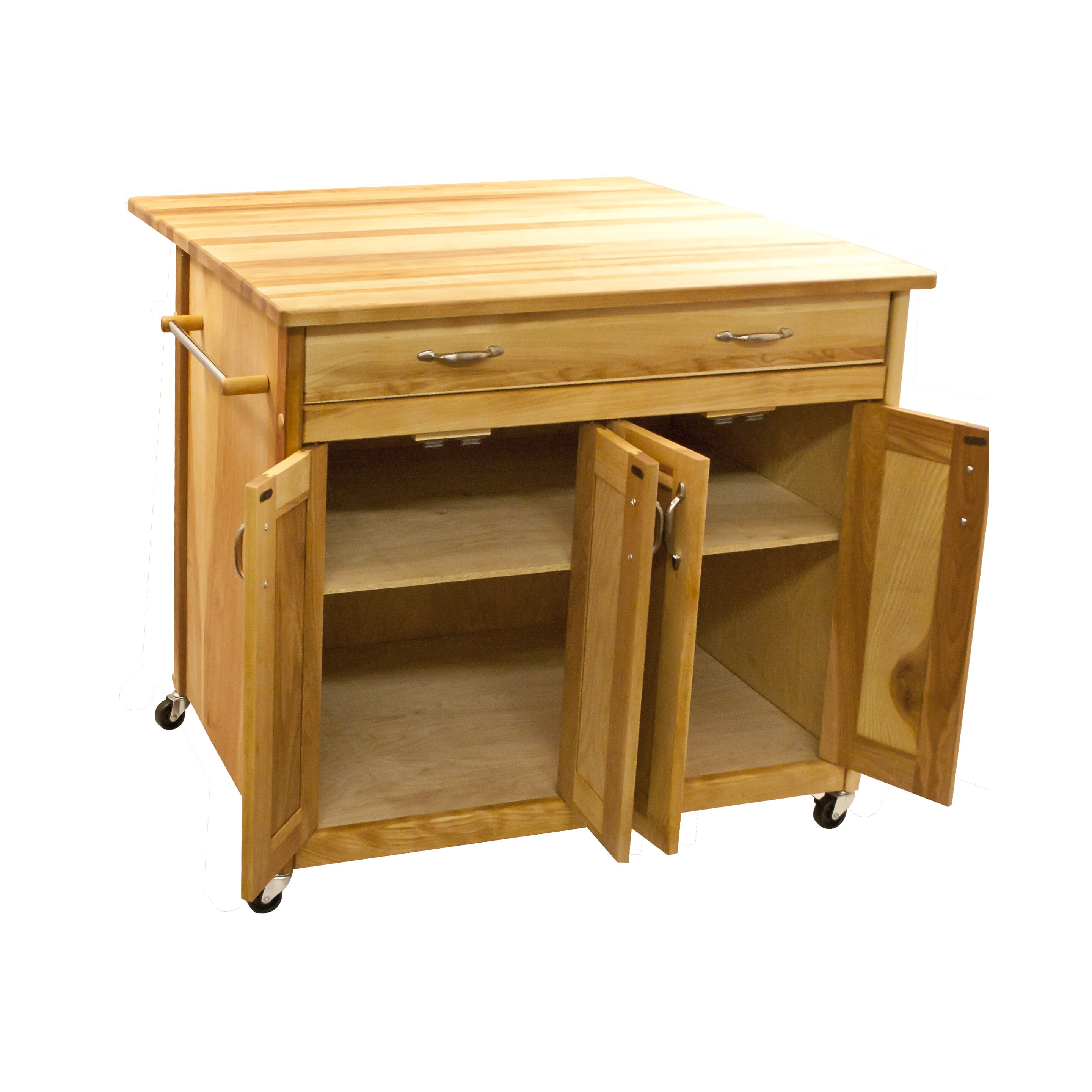 Catskill Craftsmen Kitchen Island with Butcher Block Top & Reviews Wayfair