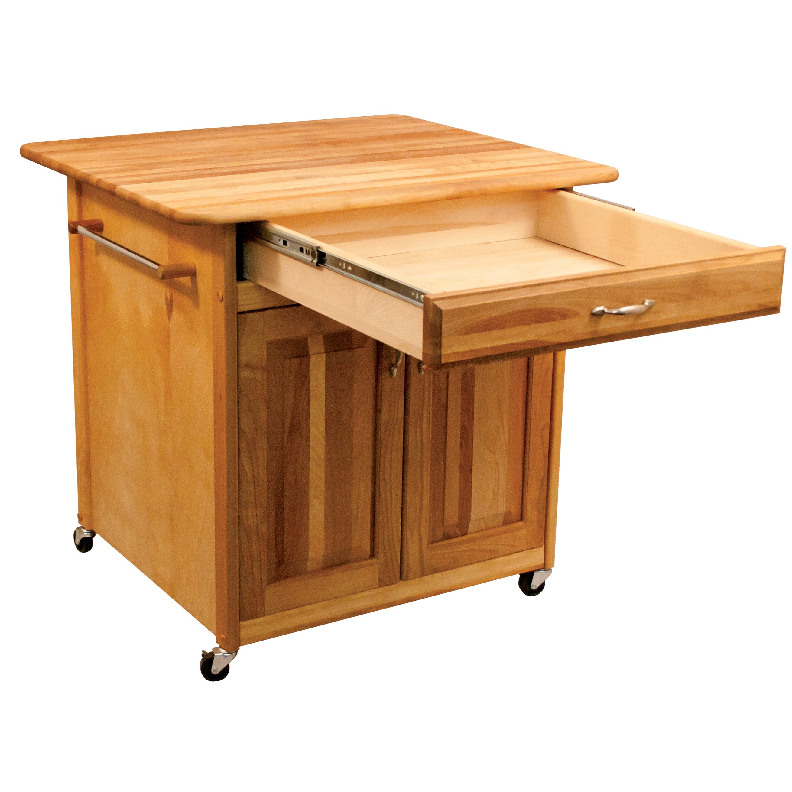 catskill craftsmen kitchen island with butcher block top reviews wayfair. Black Bedroom Furniture Sets. Home Design Ideas