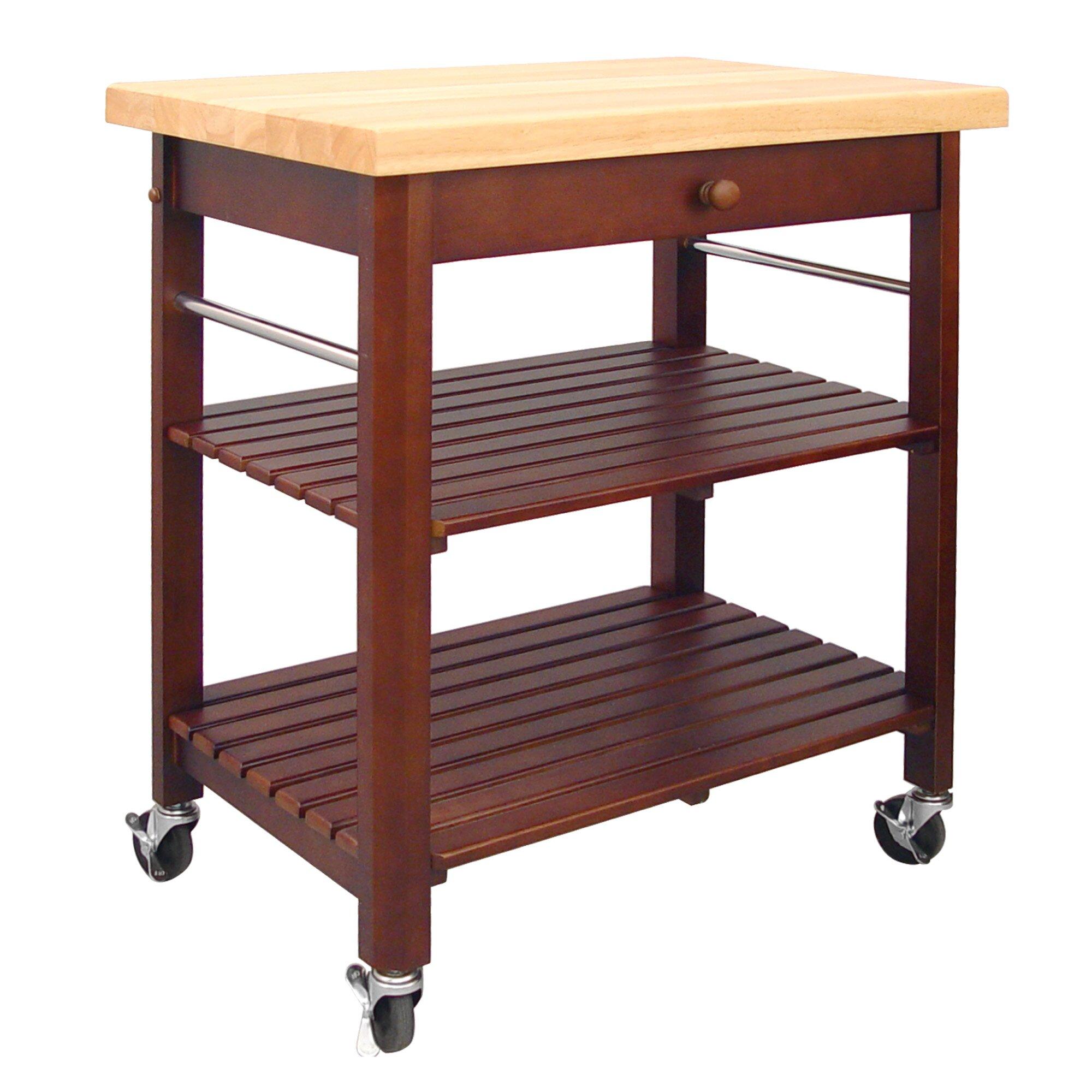 Catskill Craftsmen Kitchen Cart: Catskill Craftsmen Roll About Kitchen Cart With Wood Top