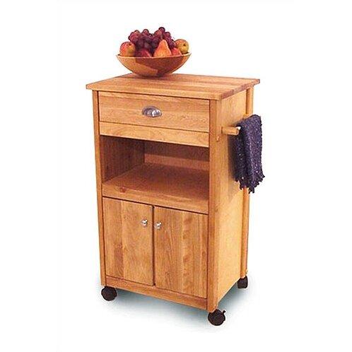 Kitchen Cart Butcher Block Top : Catskill Craftsmen Cuisine Kitchen Cart with Butcher Block Top & Reviews Wayfair