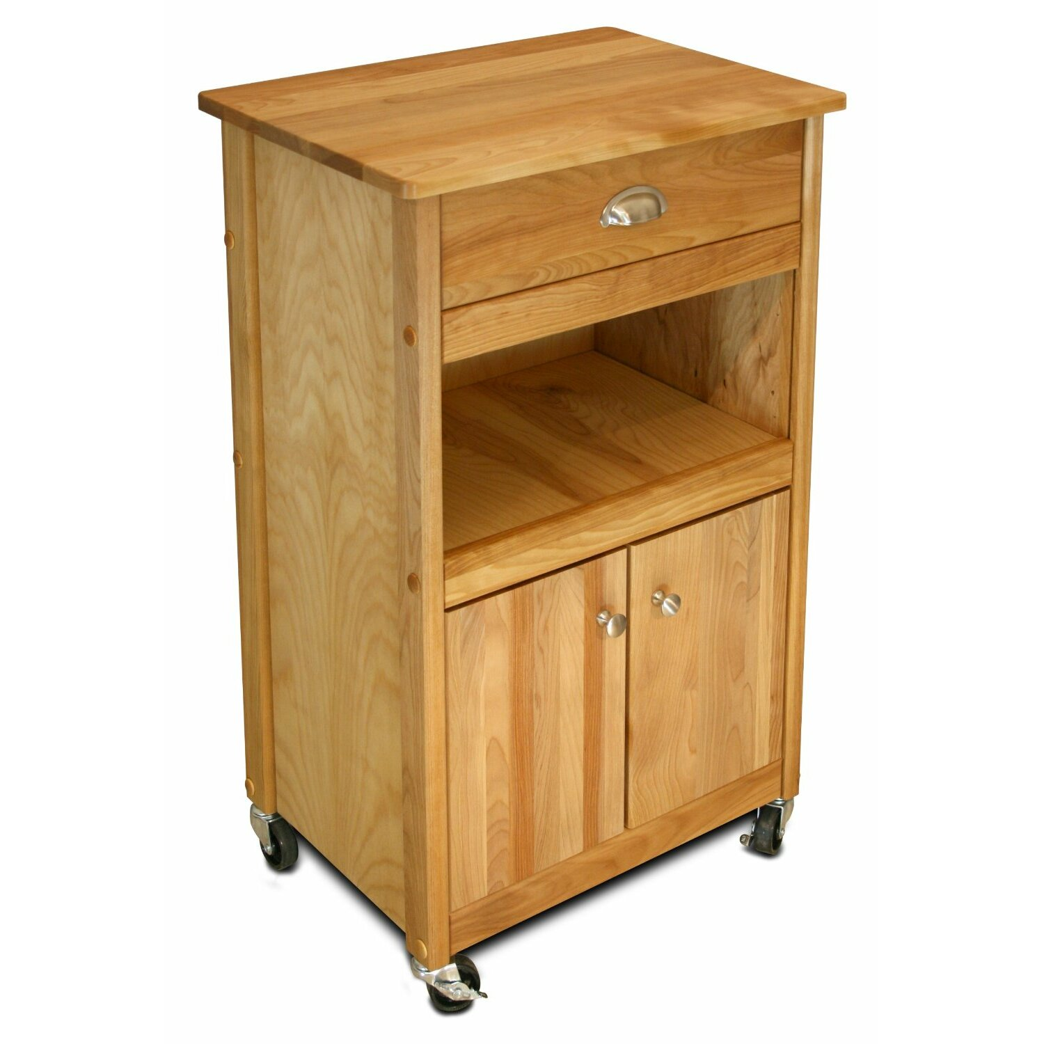 Catskill Craftsmen Cuisine Kitchen Cart With Butcher Block Top Reviews Wayfair