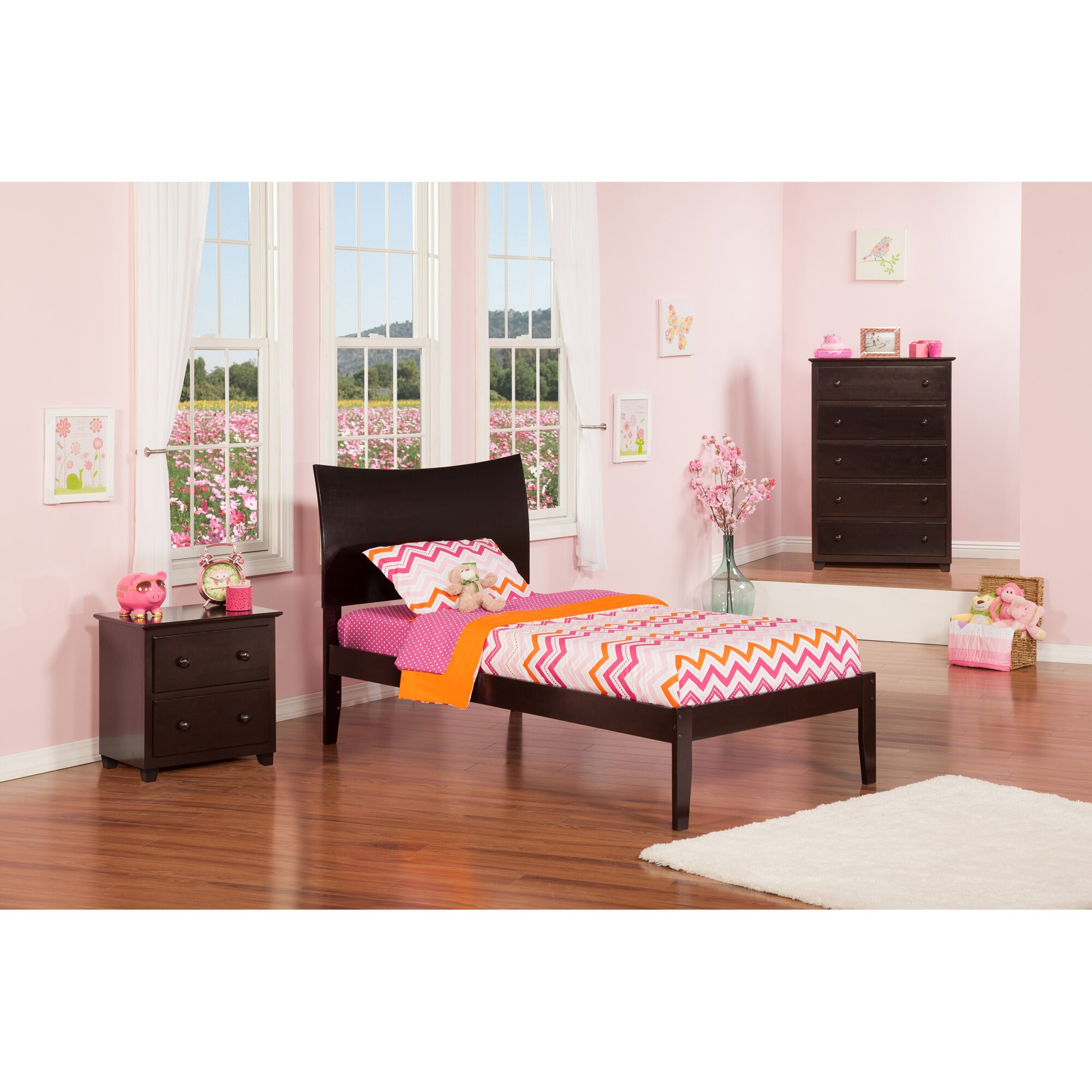 Atlantic Furniture Soho Extra Long Twin Sleigh Bed Reviews Wayfair