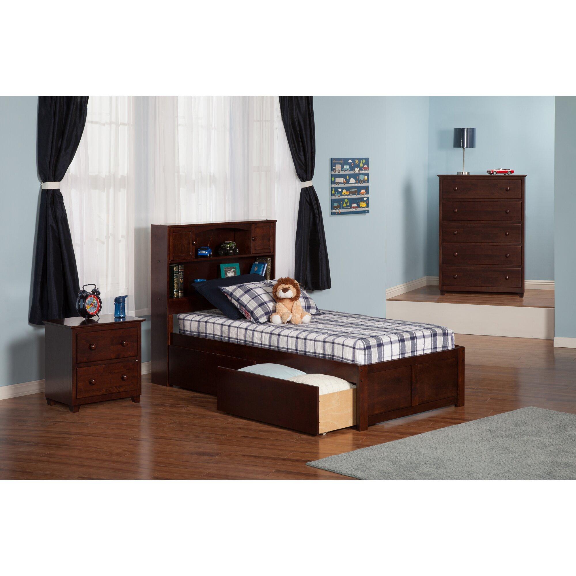 Atlantic Furniture Newport Extra Long Twin Platform Bed ...